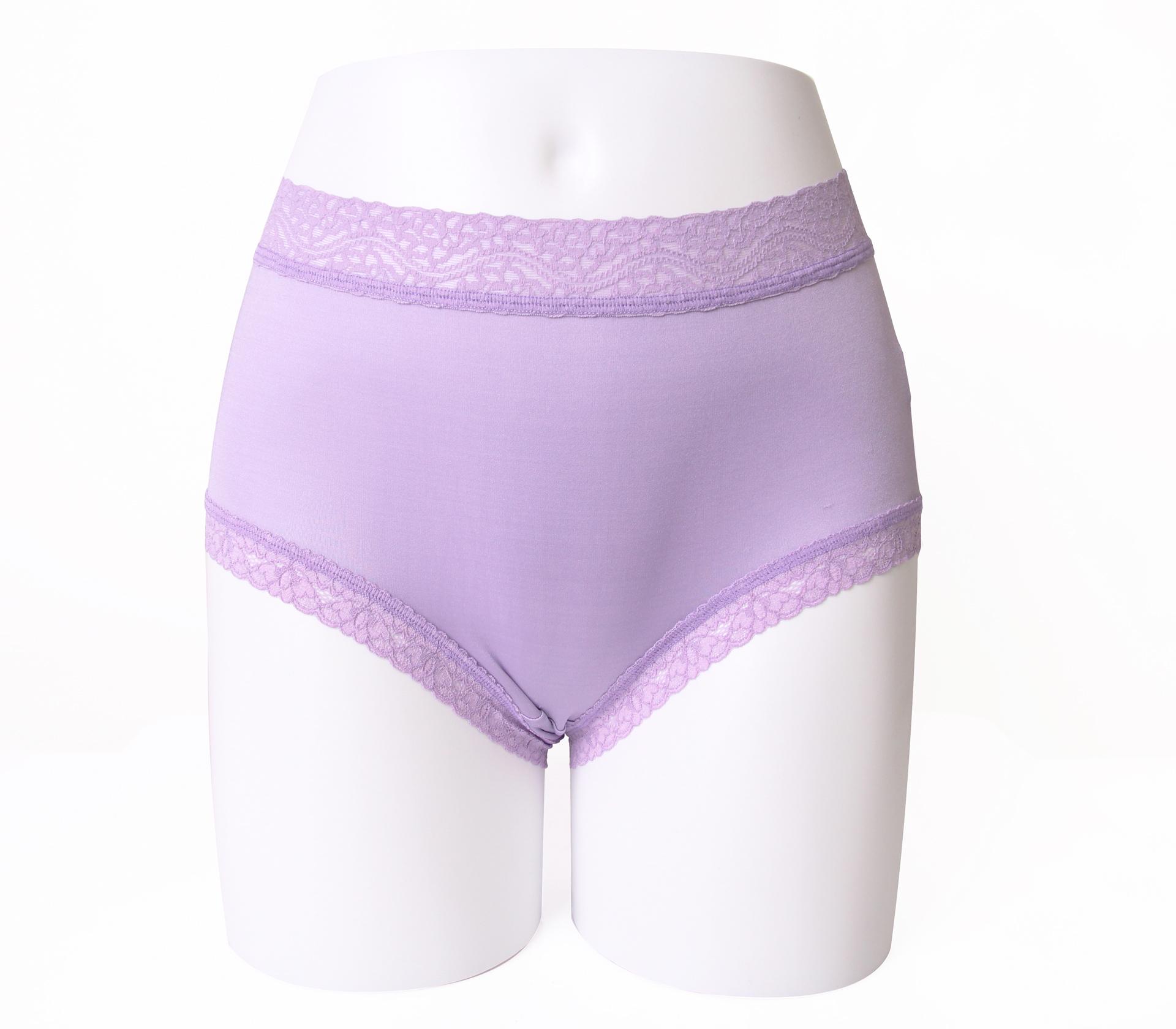 闕蘭絹輕柔素雅100%蠶絲內褲-88422(紫)