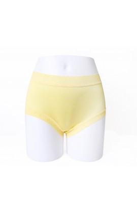 闕蘭絹輕柔素雅42針100%蠶絲內褲-88422(黃)