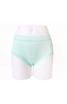 闕蘭絹輕柔素雅42針100%蠶絲內褲-88422(綠)