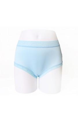 闕蘭絹輕柔素雅42針100%蠶絲內褲-88422(藍)