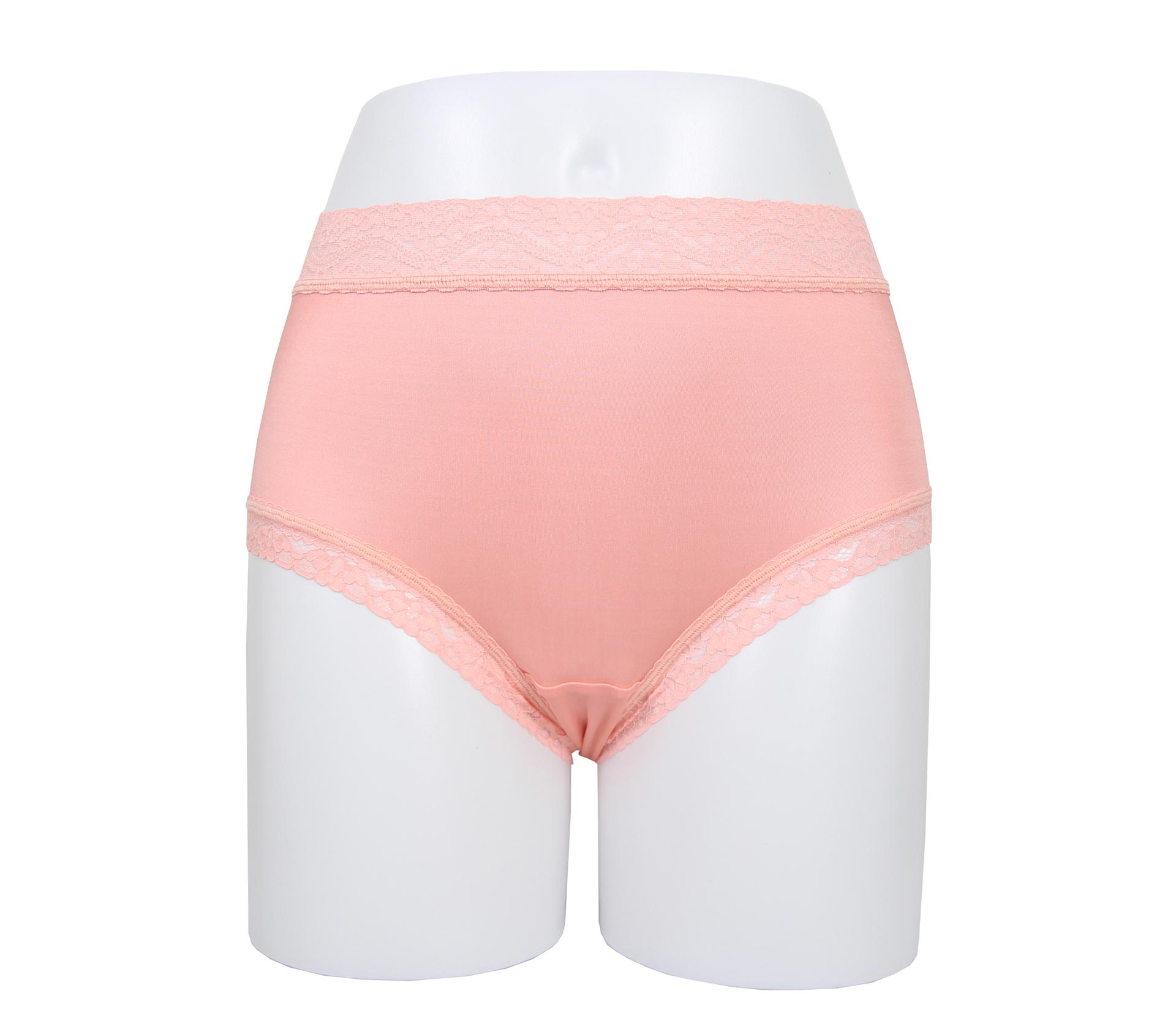 闕蘭絹42針高腰素面氣質100%蠶絲內褲-88425-1 (粉)