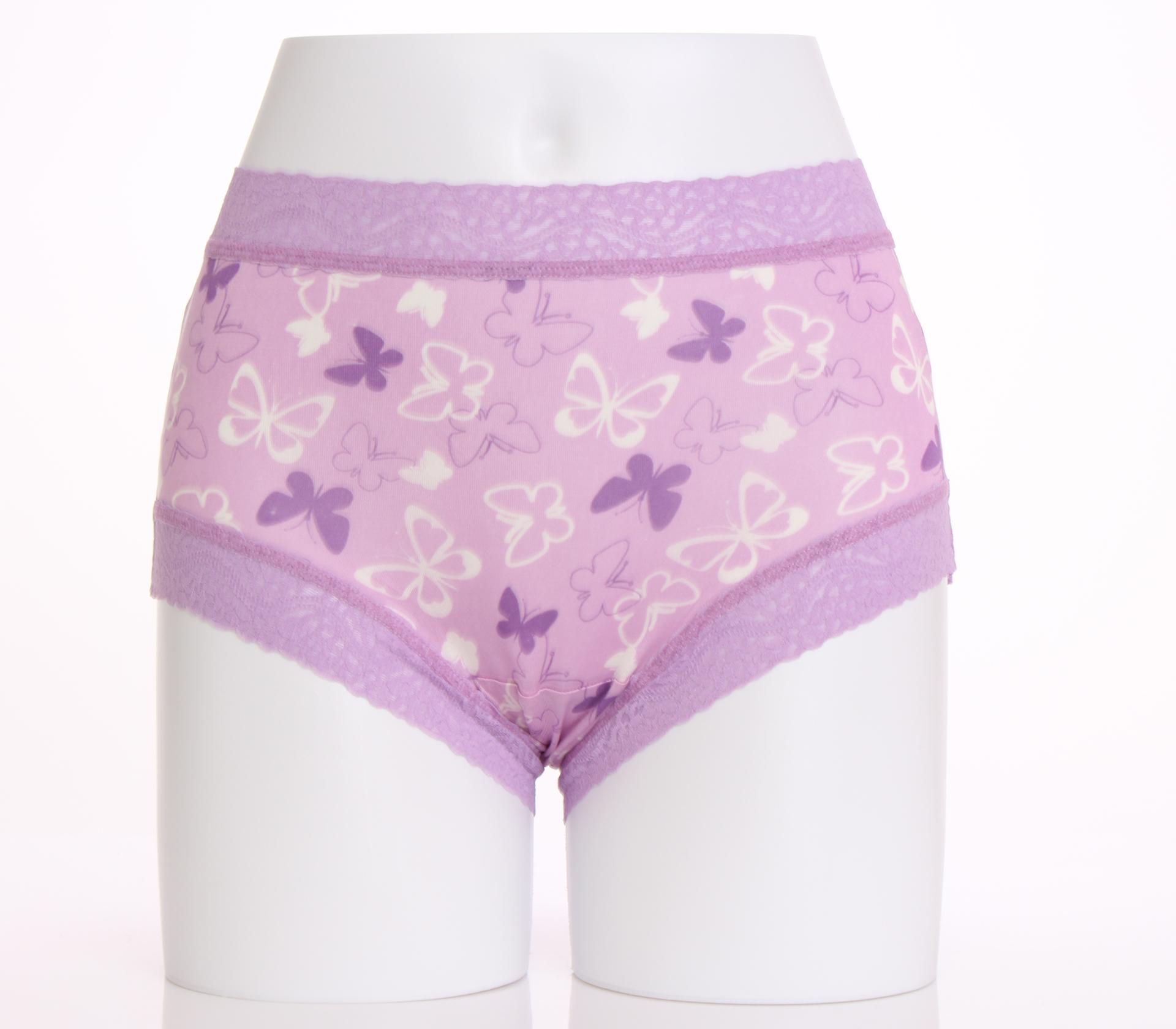 闕蘭絹蝶之舞滿滿蝴蝶100%蠶絲內褲-860(紫)