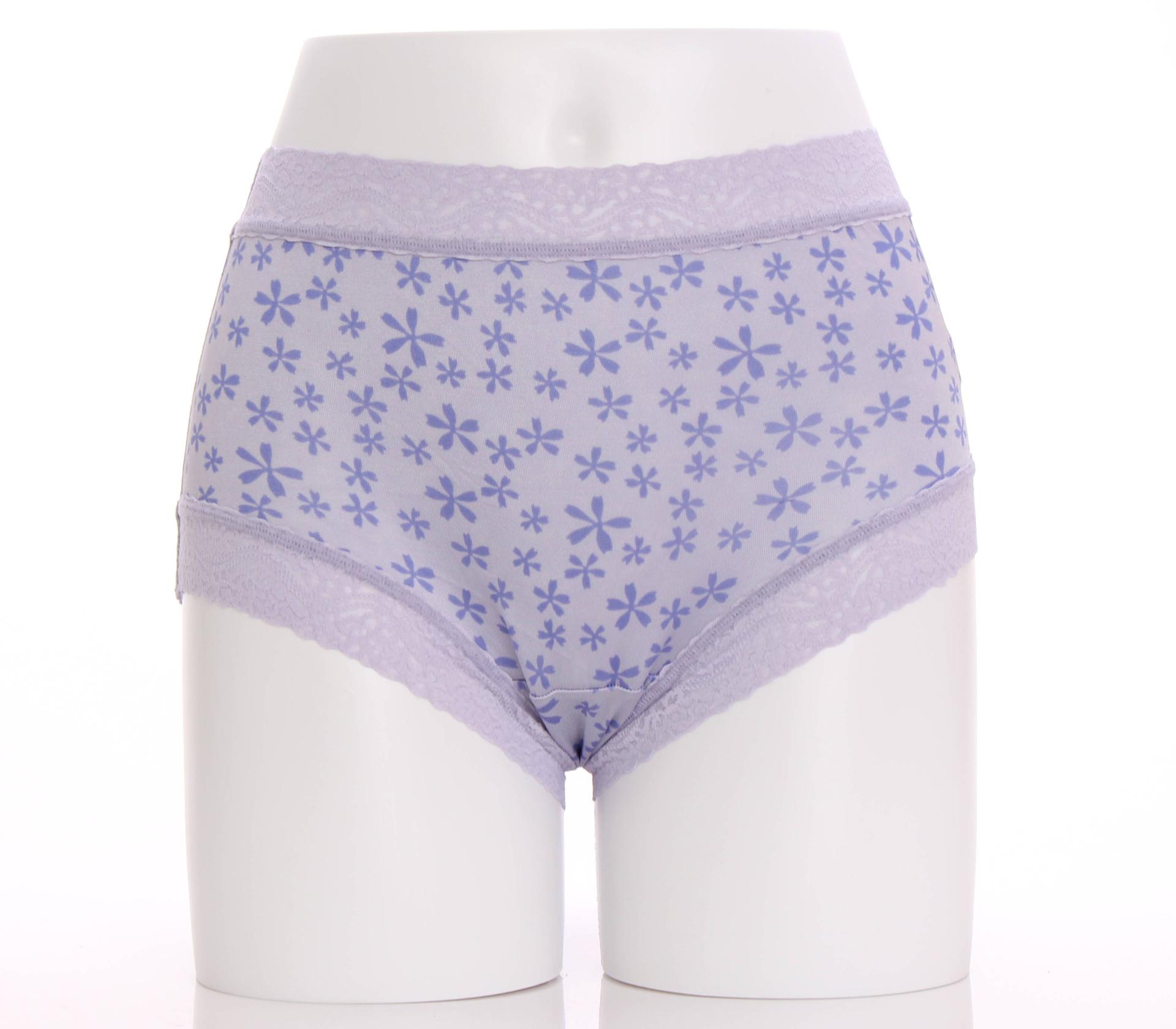 闕蘭絹圓舞曲滿滿五瓣花100%蠶絲內褲-865(紫)