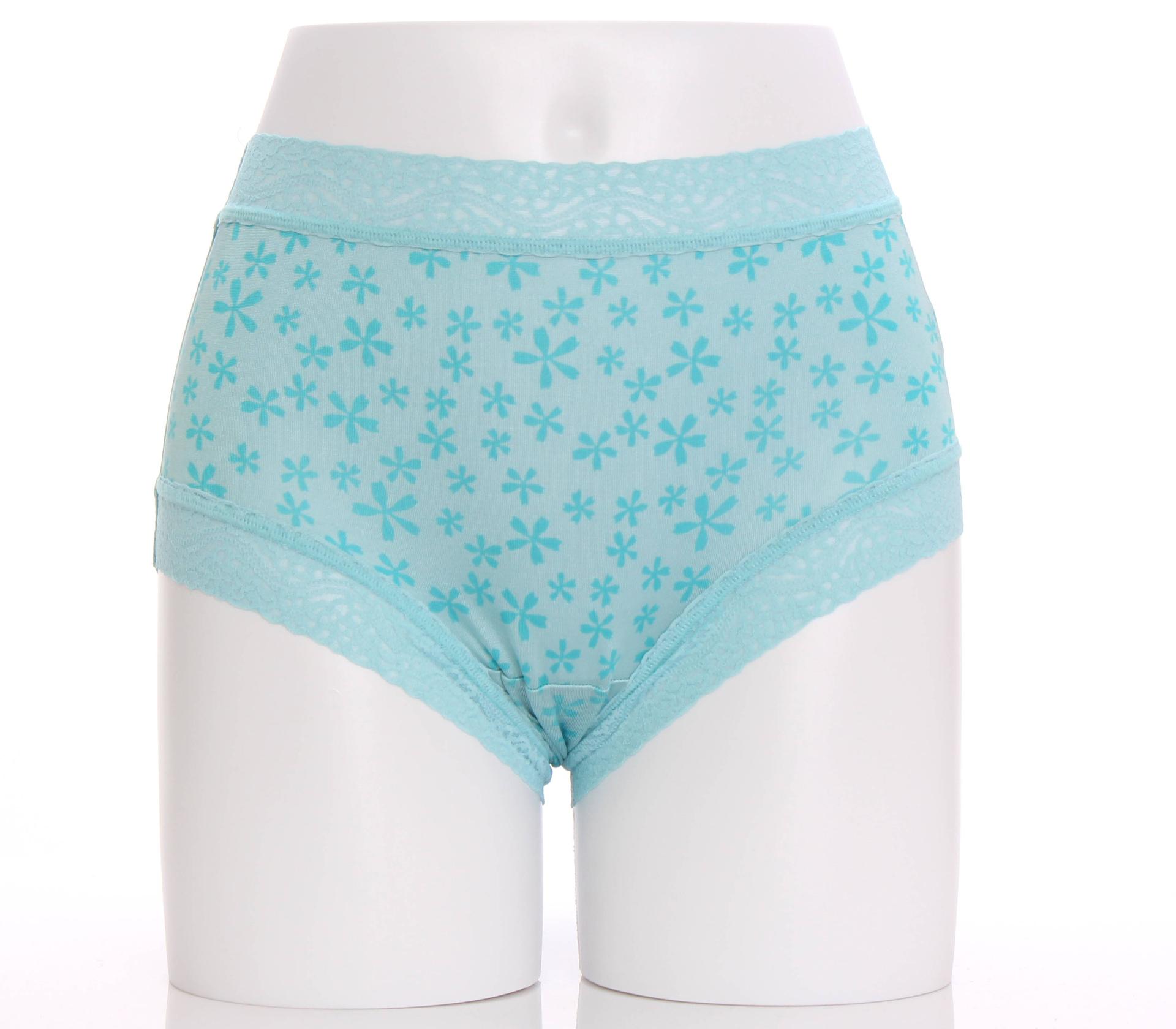 闕蘭絹圓舞曲滿滿五瓣花100%蠶絲內褲-865(藍)