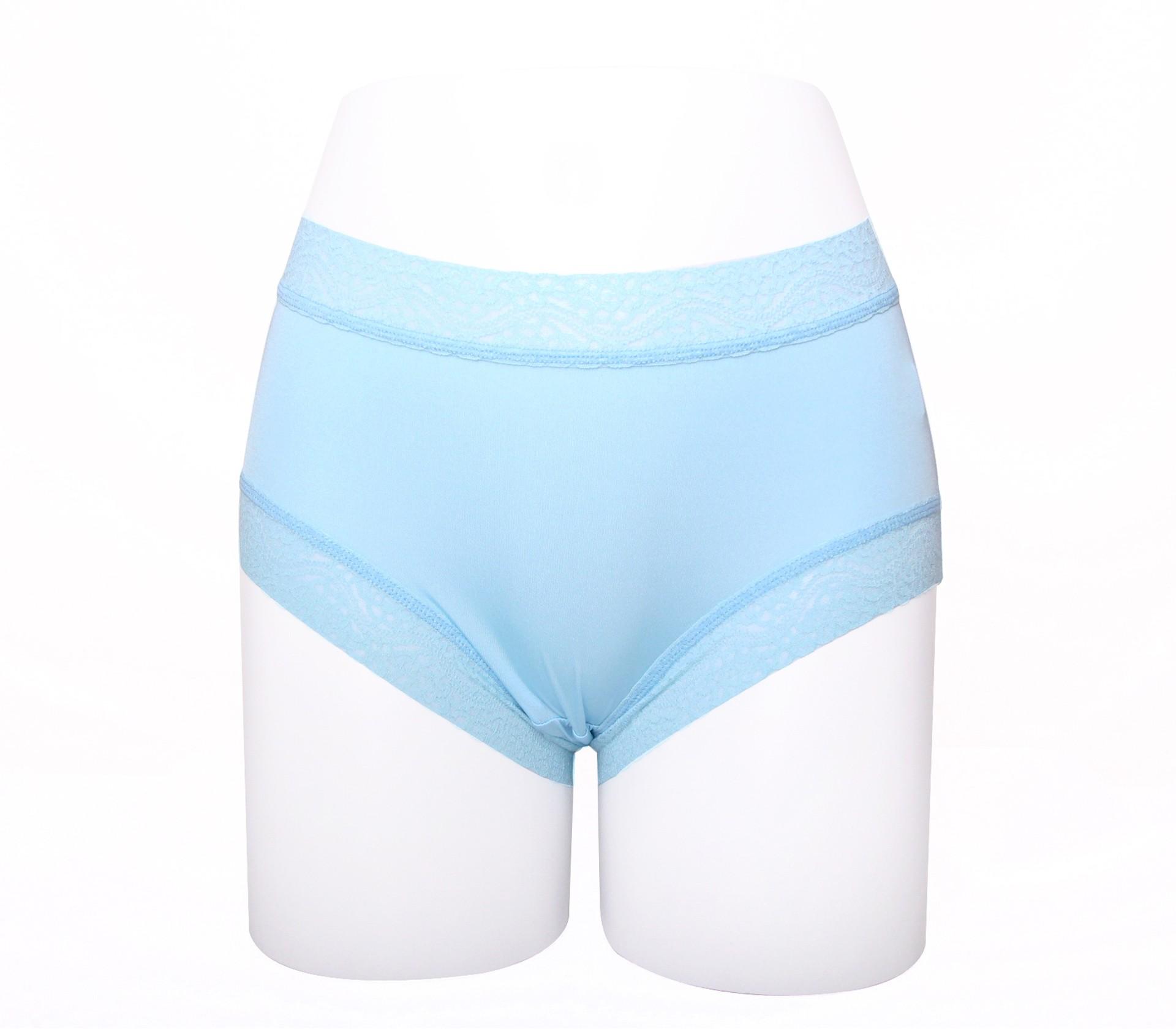 闕蘭絹簡約舒適100%蠶絲內褲-8879(淺藍)