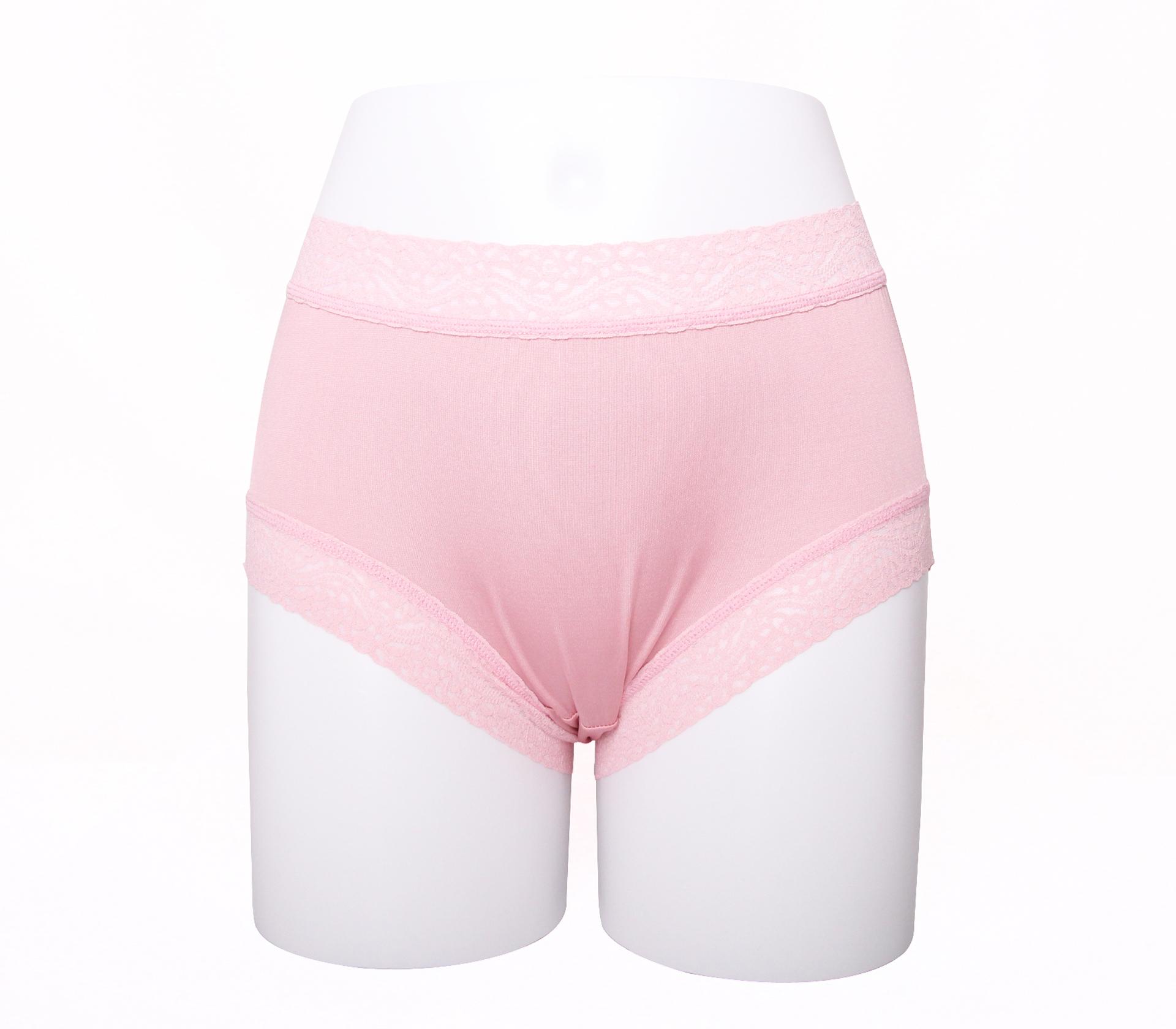 闕蘭絹簡約舒適100%蠶絲內褲-8879(淺粉)