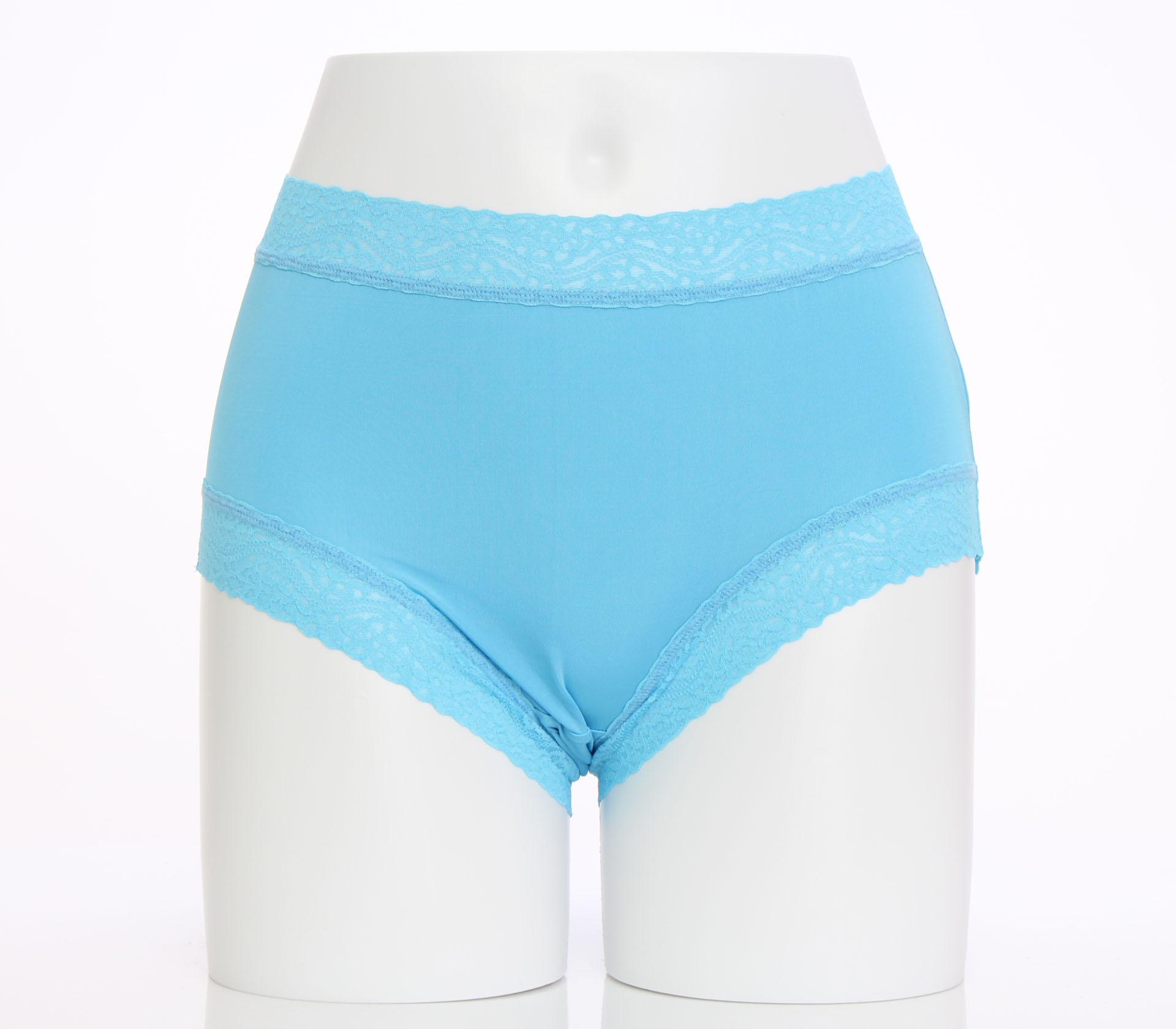 闕蘭絹簡約舒適100%蠶絲內褲-8879(藍)