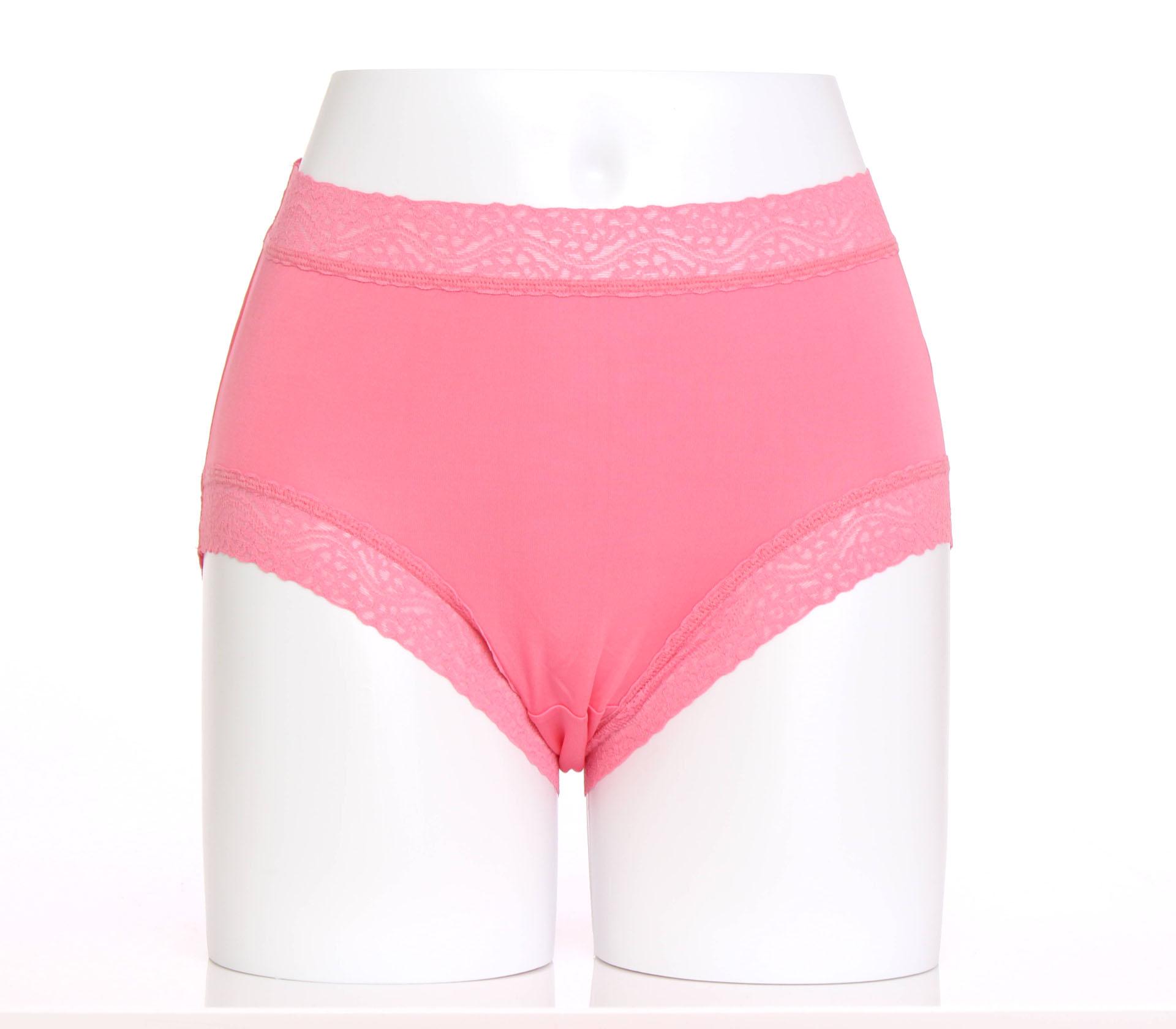 闕蘭絹簡約舒適100%蠶絲內褲-8879(粉)