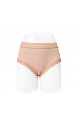闕蘭絹質感舒適40針100%蠶絲內褲-887901 (膚色)