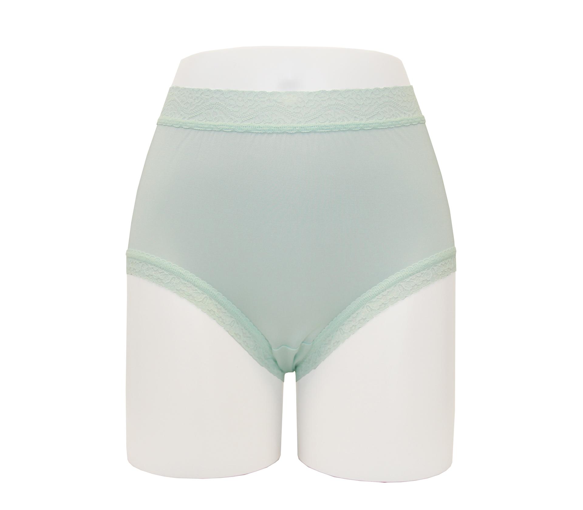 闕蘭絹40針高腰粉嫩透氣100%蠶絲內褲 - 887903 (綠)