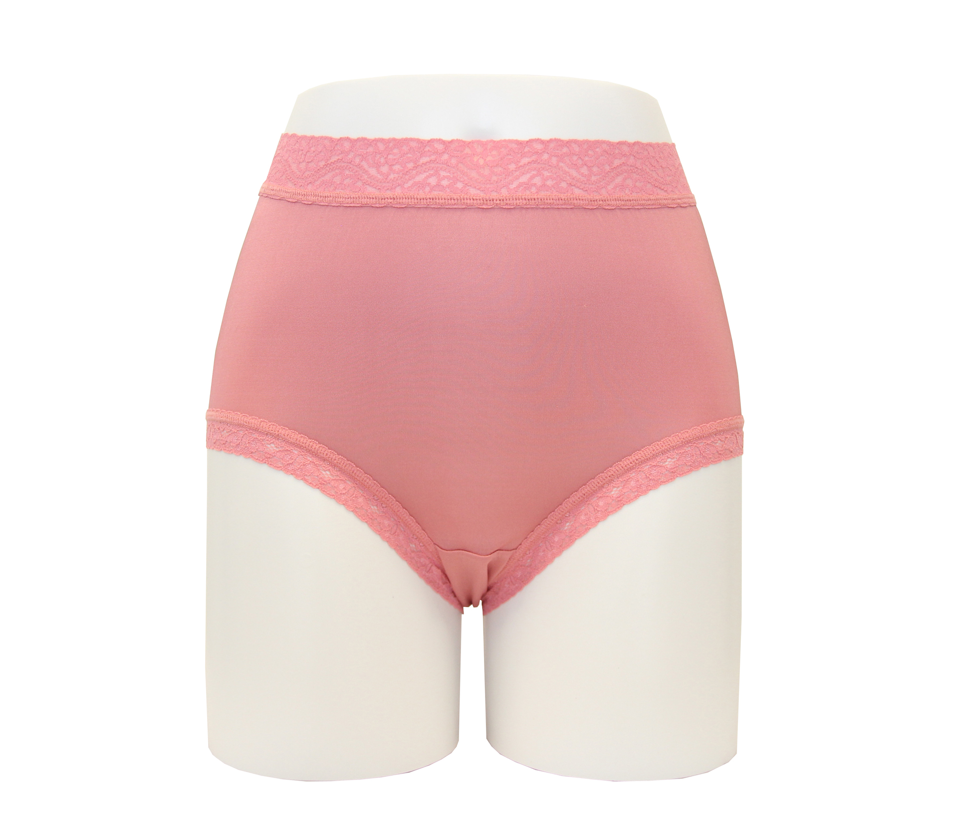 闕蘭絹40針高腰粉嫩透氣100%蠶絲內褲 - 887903 (珊瑚紅)