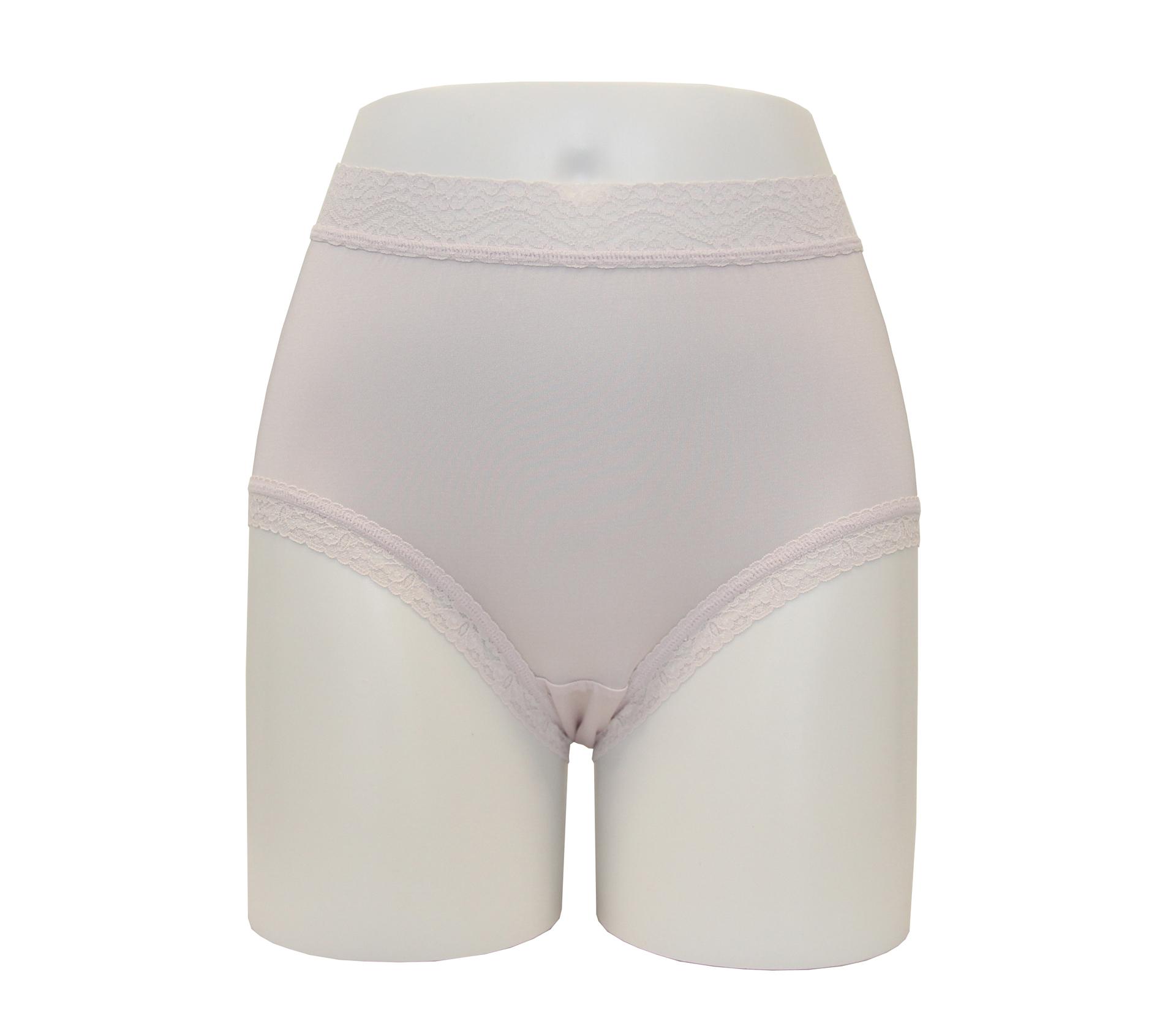 闕蘭絹40針高腰粉嫩透氣100%蠶絲內褲 - 887903 (紫)