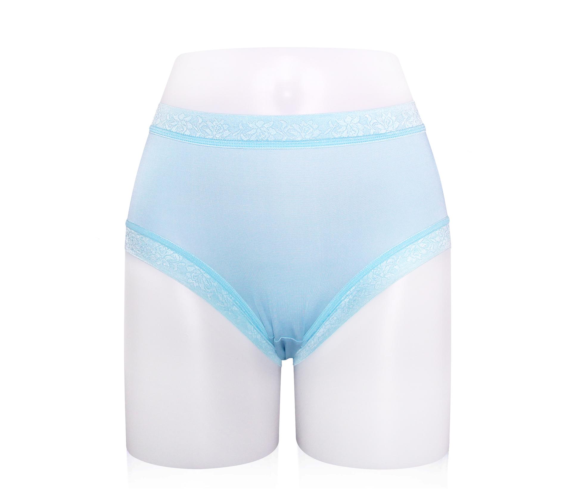 闕蘭絹粉嫩溫柔30針100%蠶絲內褲 - 887904 (藍)