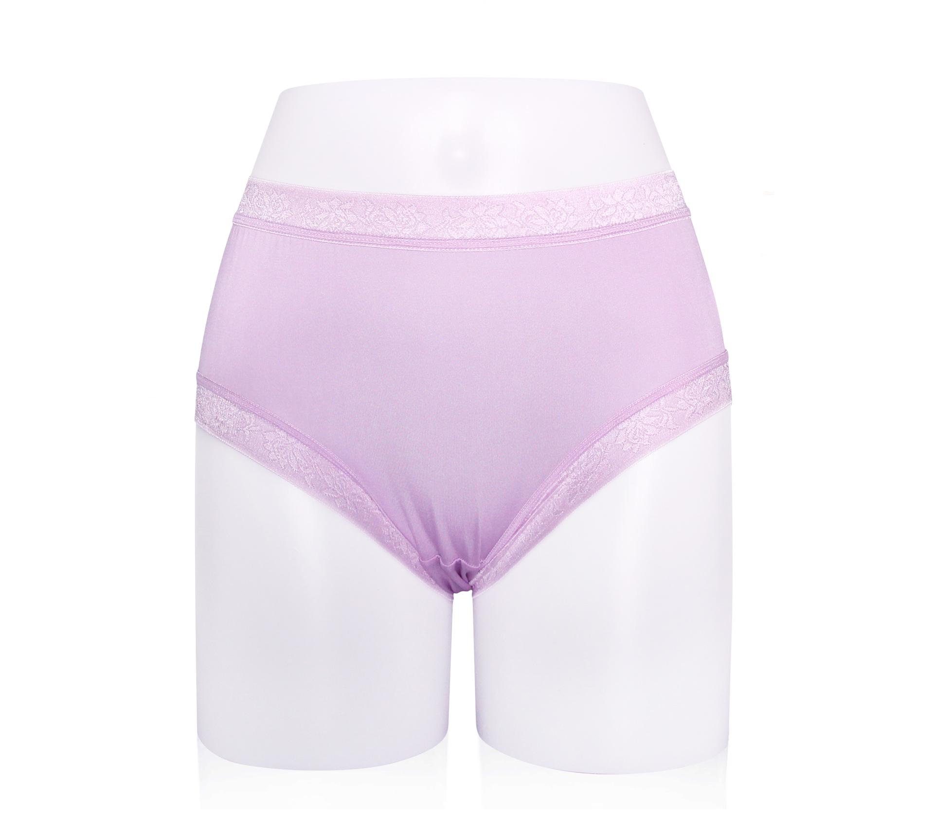 闕蘭絹粉嫩溫柔30針100%蠶絲內褲 - 887904 (紫)