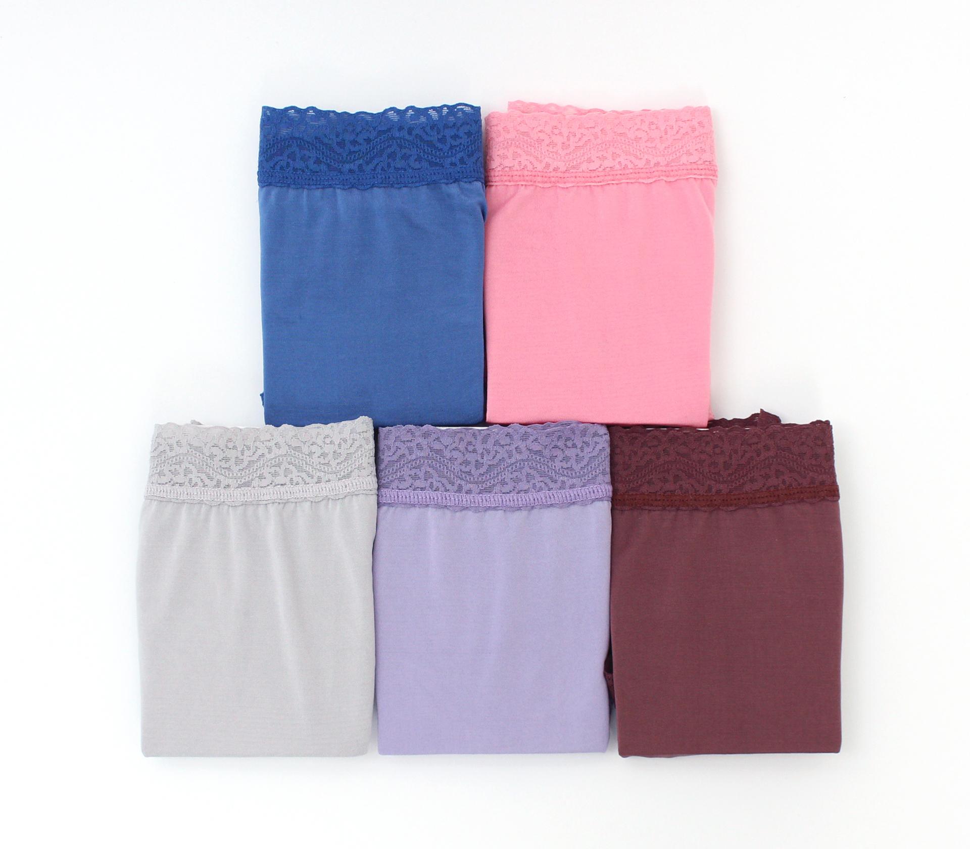 闕蘭絹『超高腰』包覆頂級40針100%蠶絲內褲五件組-8795