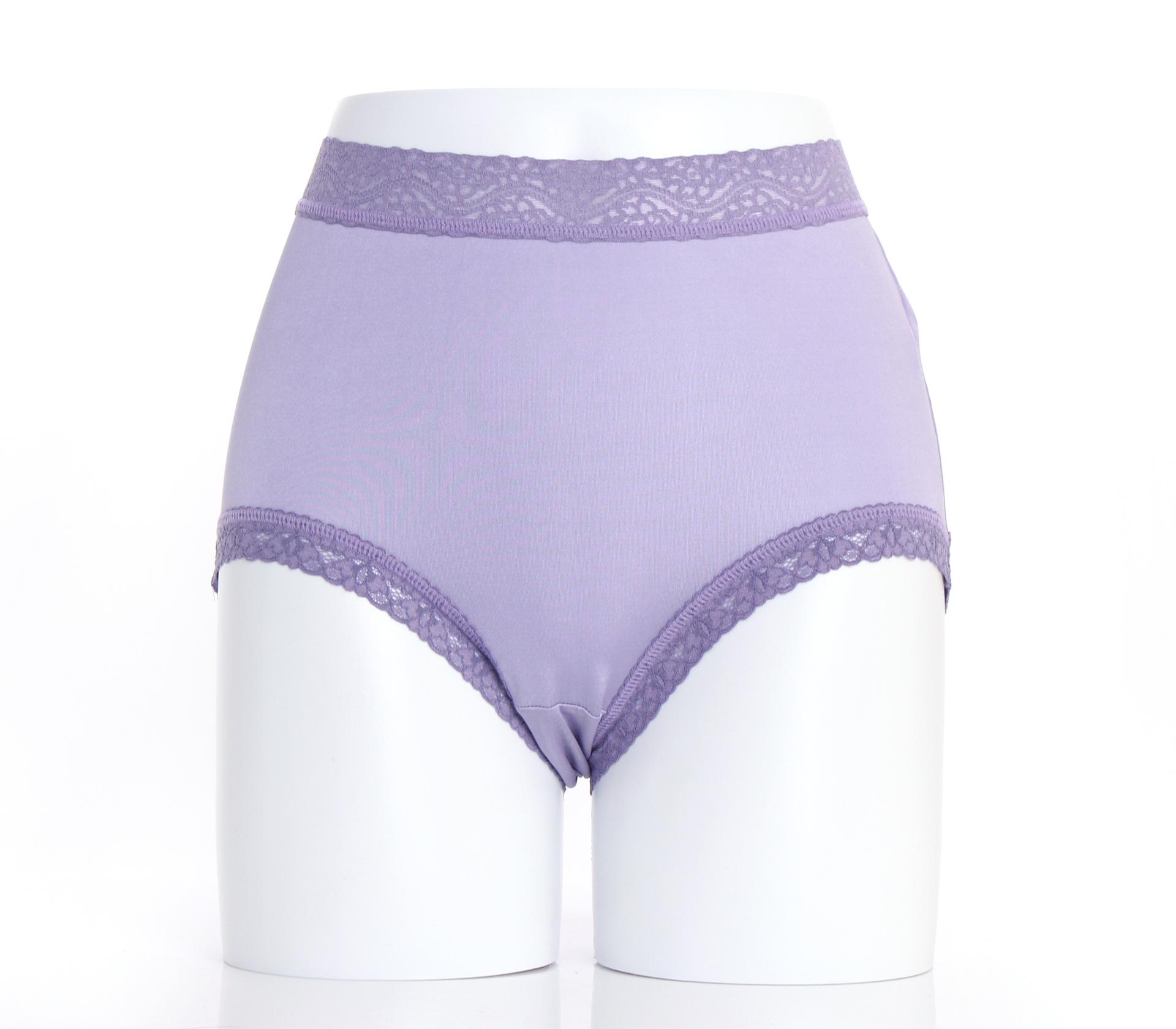 闕蘭絹『超高腰』包覆頂級40針100%蠶絲內褲-8795(紫)