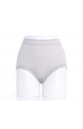 闕蘭絹『超高腰』包覆頂級40針100%蠶絲內褲-8795(灰)