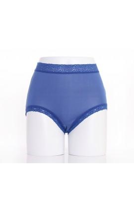 闕蘭絹『超高腰』包覆頂級40針100%蠶絲內褲-8795(藍)