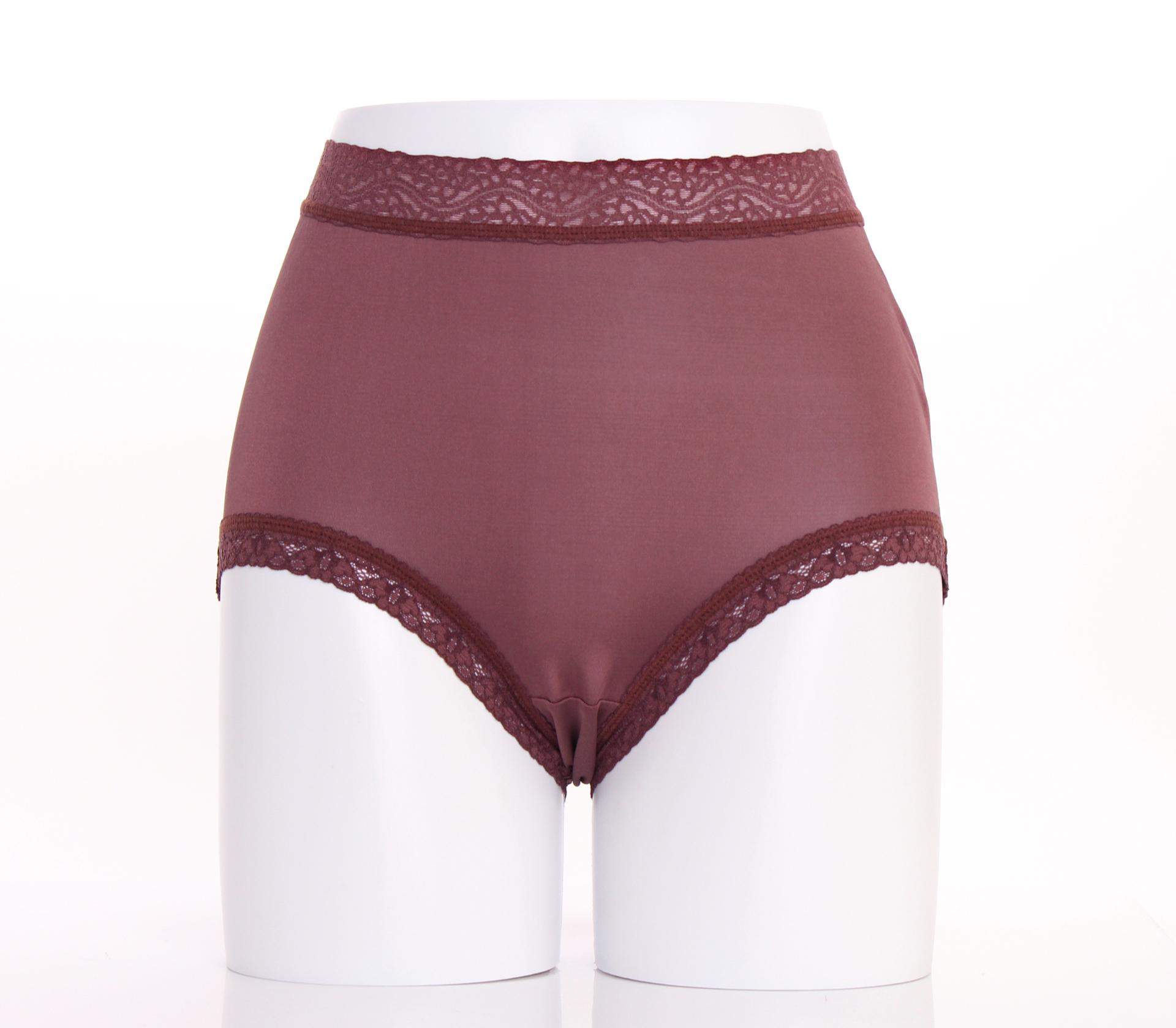 闕蘭絹『超高腰』包覆頂級40針100%蠶絲內褲-8795(咖啡)