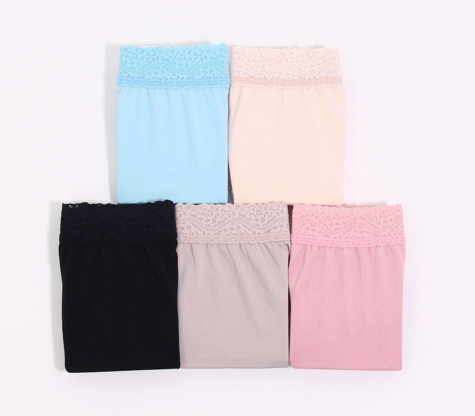 闕蘭絹典雅美人頂級40針『超高腰』包覆100%蠶絲內褲五件組-8796