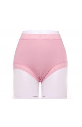 闕蘭絹典雅美人頂級40針『超高腰』包覆100%蠶絲內褲-8796(粉)