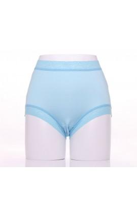 闕蘭絹典雅美人頂級40針『超高腰』包覆100%蠶絲內褲-8796(藍)