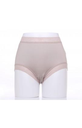 闕蘭絹典雅美人頂級40針『超高腰』包覆100%蠶絲內褲-8796(灰)