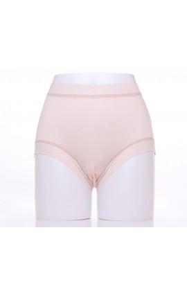 闕蘭絹典雅美人頂級40針『超高腰』包覆100%蠶絲內褲-8796(白)