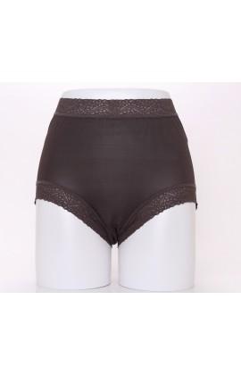 闕蘭絹頂級絲滑100%蠶絲內褲-88797(咖)