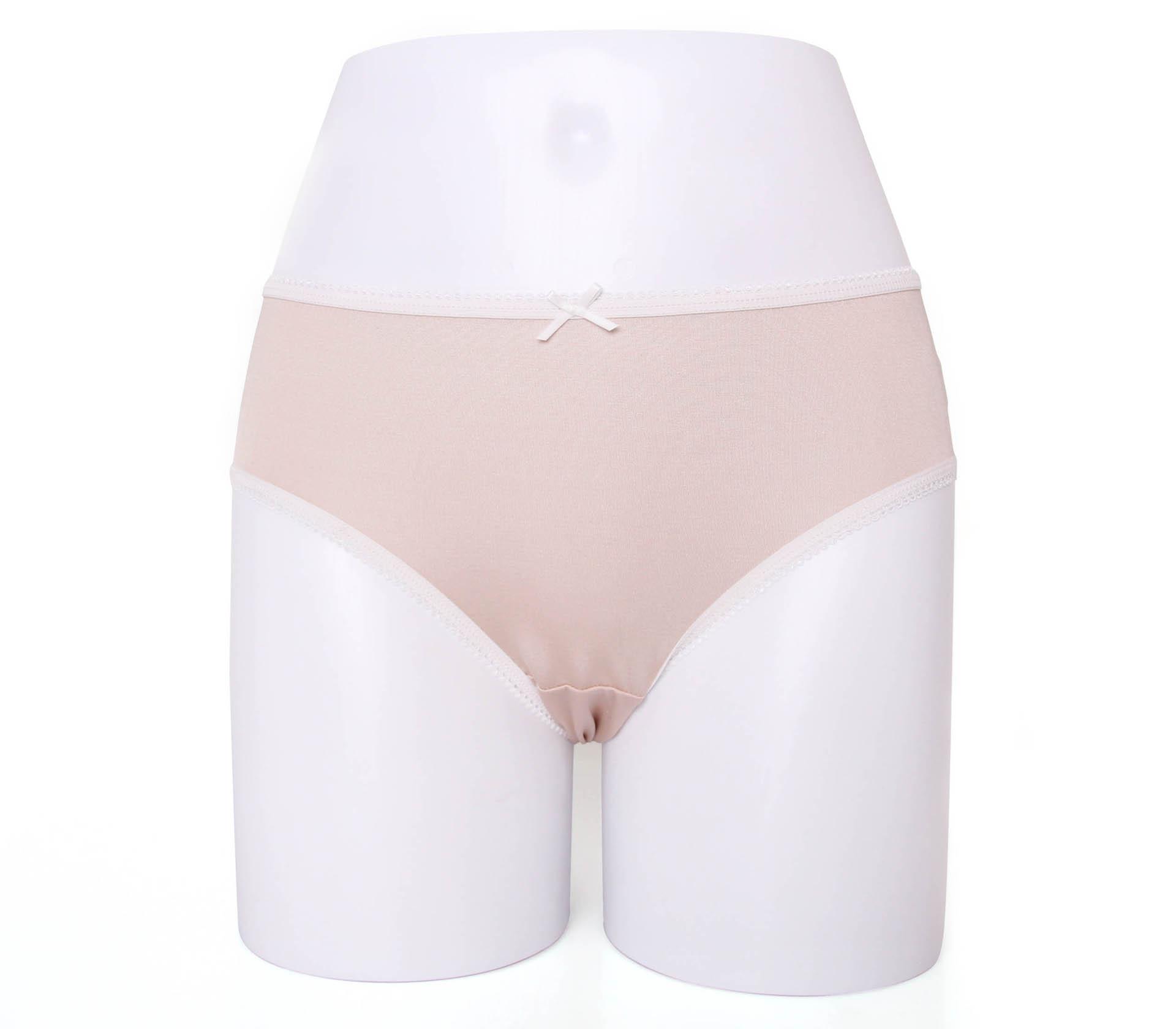 闕蘭絹甜心粉嫩100%蠶絲內褲-88798-1(膚)