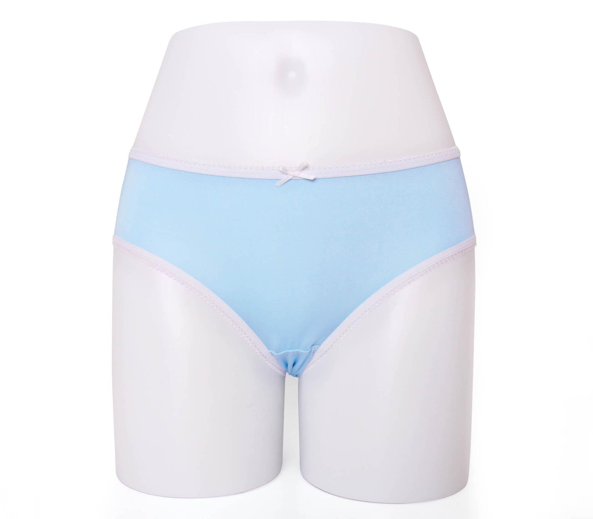 闕蘭絹甜心粉嫩100%蠶絲內褲-88798-1(藍)