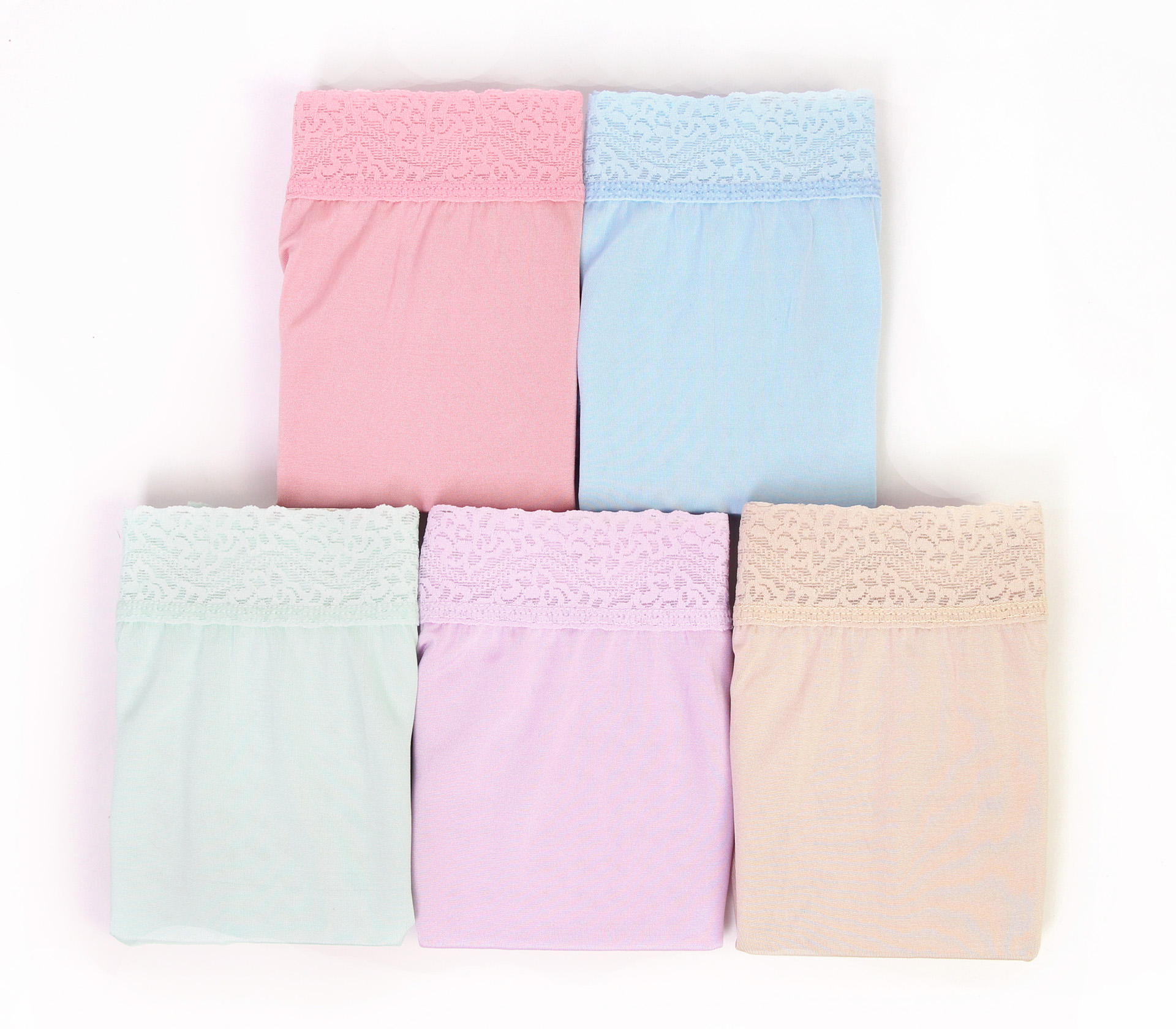 闕蘭絹親膚舒適包覆頂級40針100%蠶絲內褲五件組-88798
