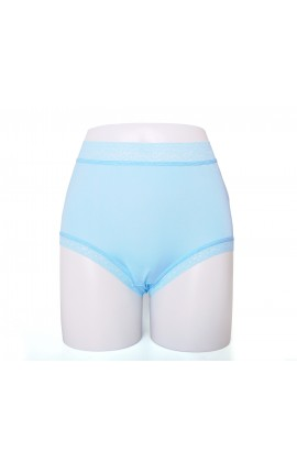闕蘭絹親膚舒適包覆頂級40針100%蠶絲內褲-88798(藍)