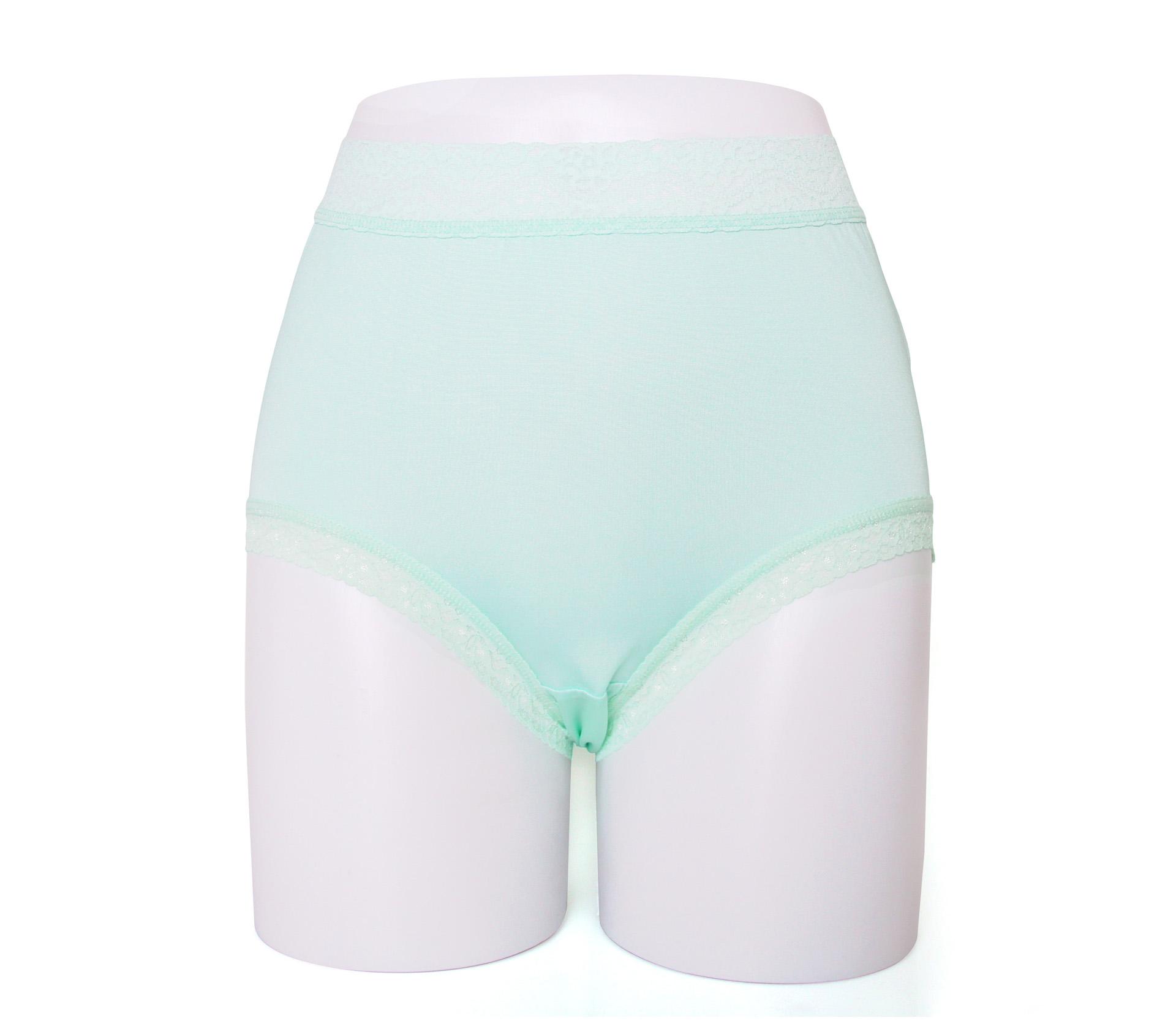 闕蘭絹親膚舒適包覆頂級40針100%蠶絲內褲-88798(綠)