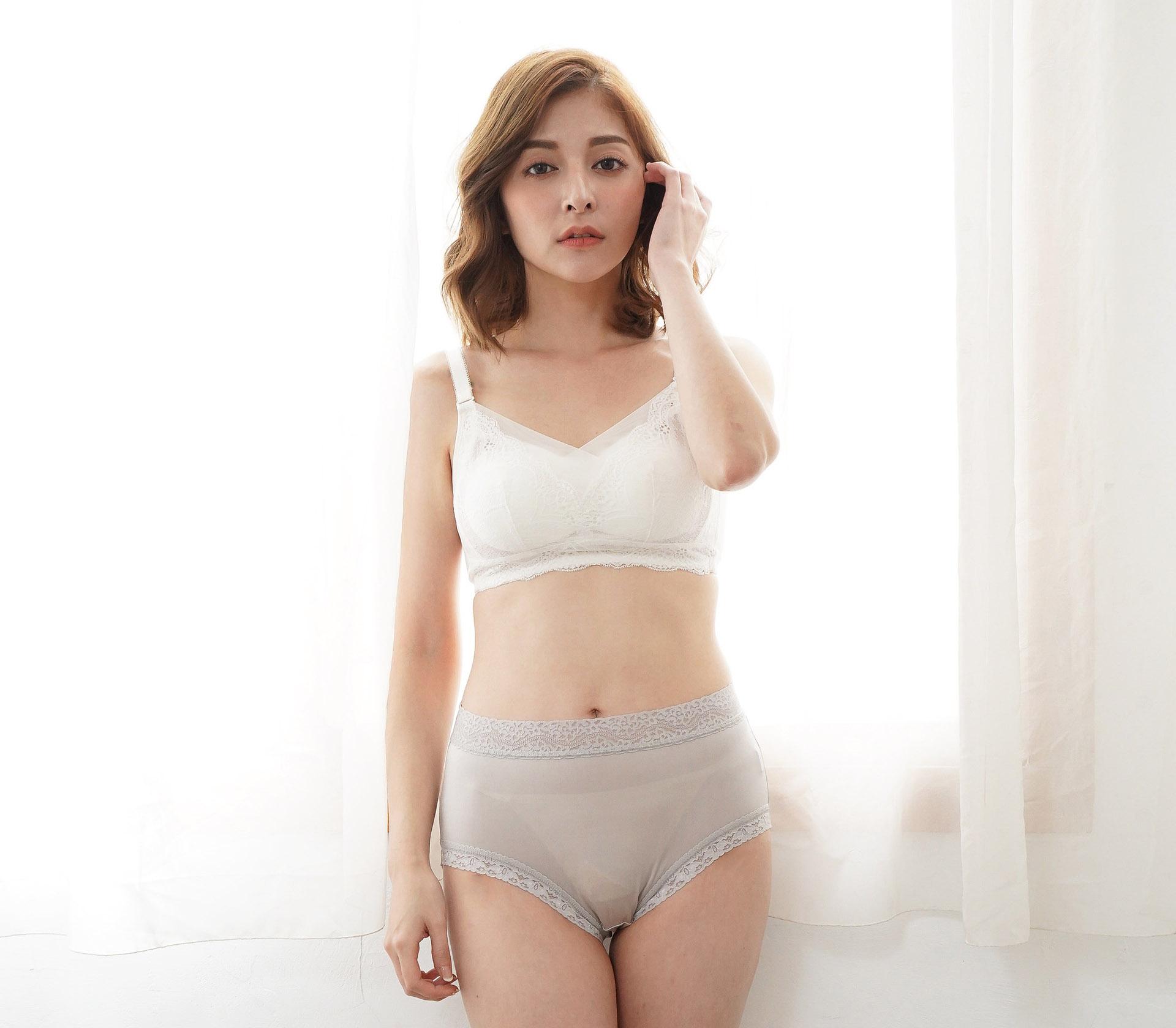 闕蘭絹低調奢華100%蠶絲內褲-88799(灰)