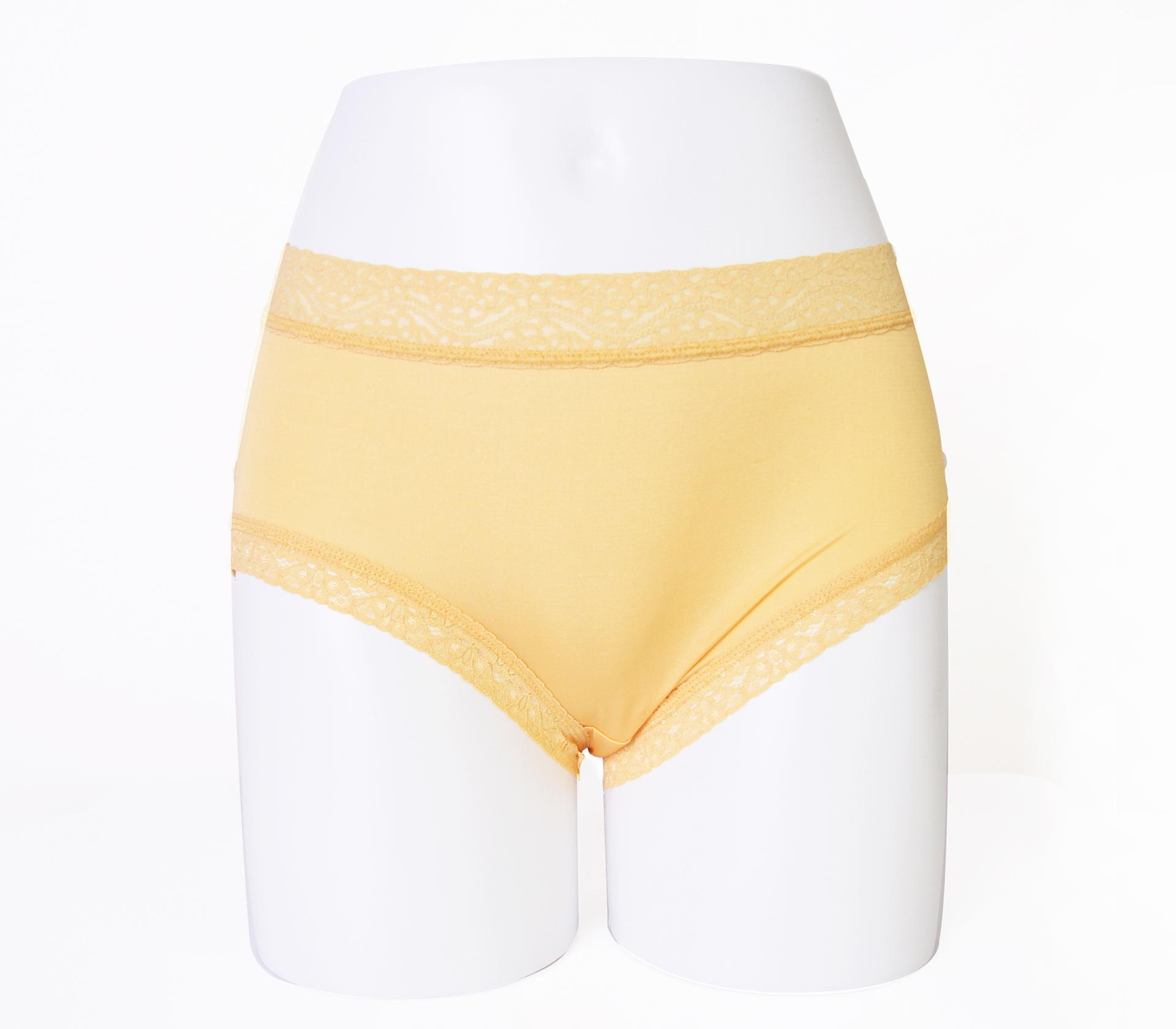 闕蘭絹低調奢華100%蠶絲內褲-88799(黃)