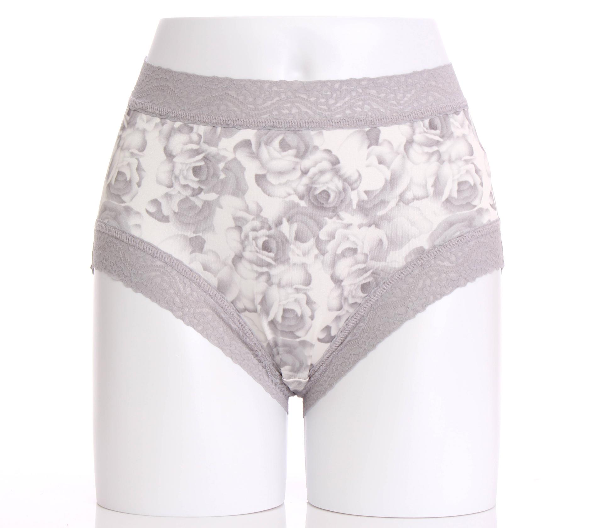 闕蘭絹貴氣牡丹100%蠶絲內褲-884(灰)