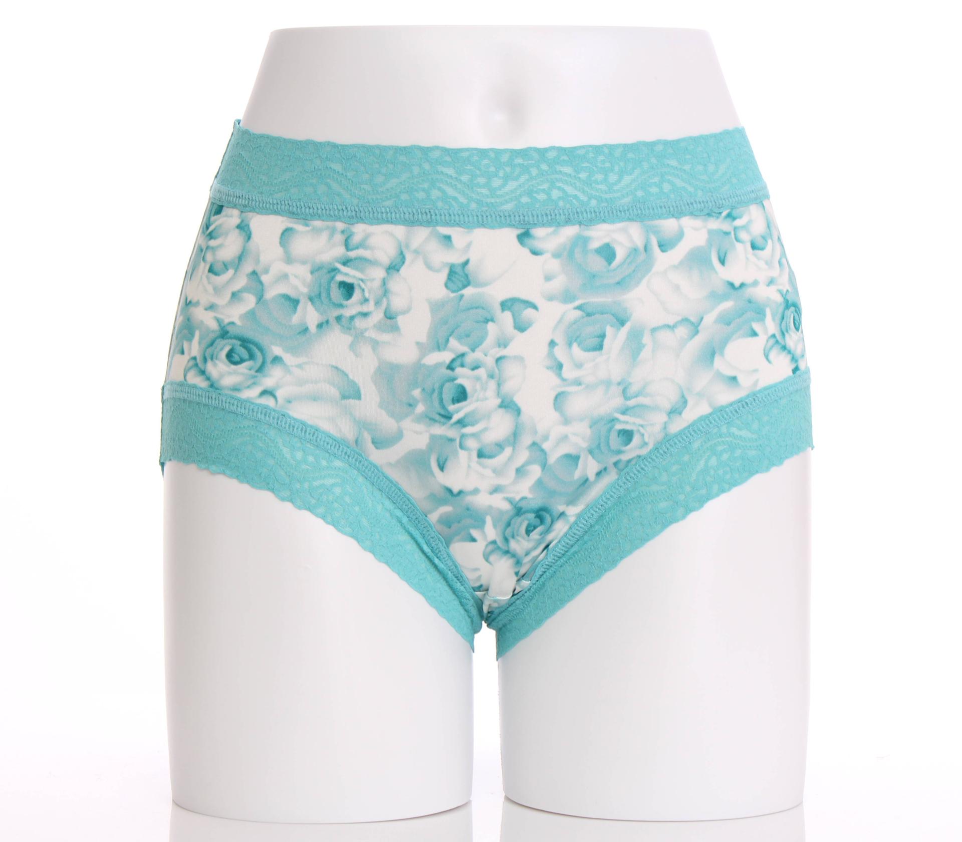 闕蘭絹貴氣牡丹100%蠶絲內褲-884(綠)