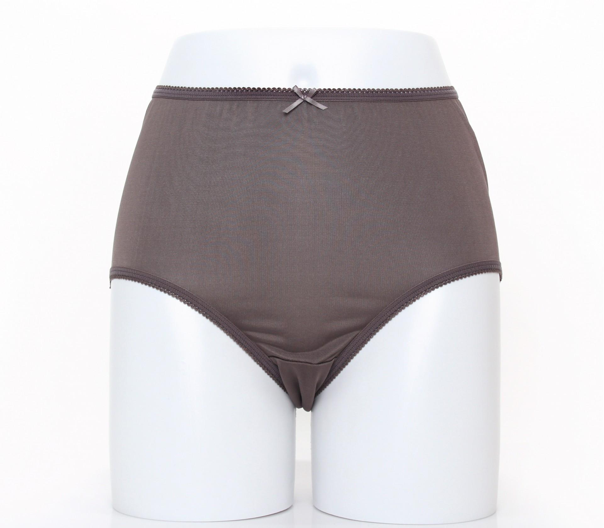 闕蘭絹寵愛優雅100%蠶絲內褲-88901(咖)