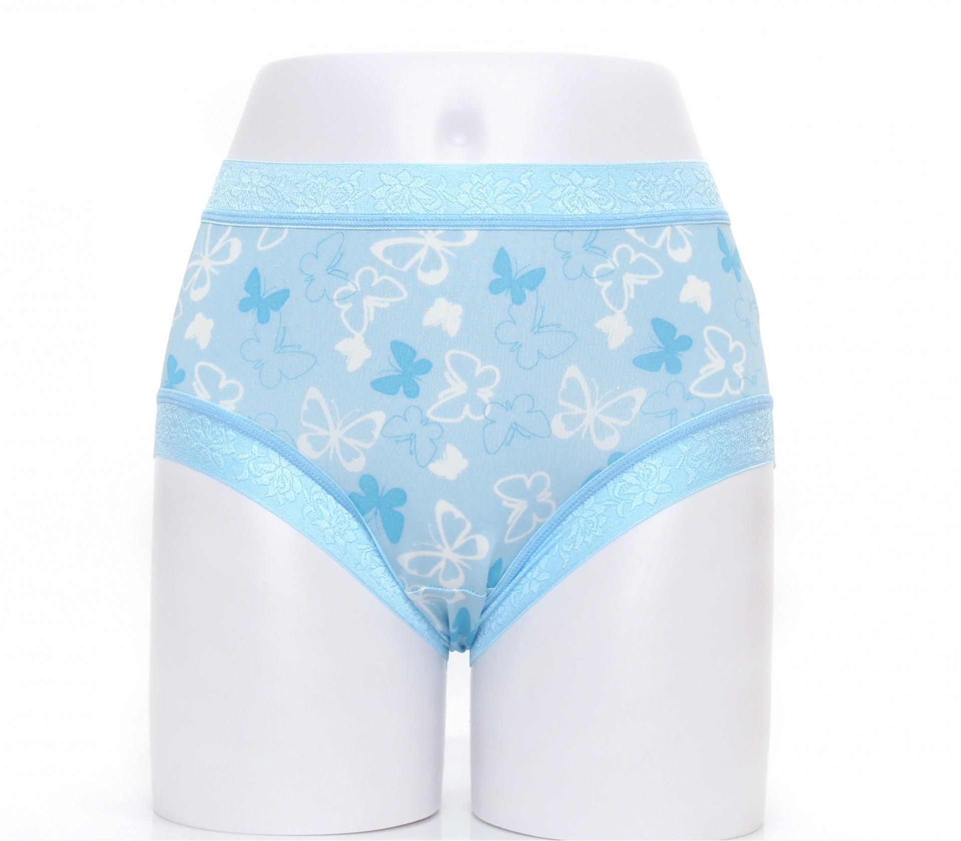 闕蘭絹舒適無痕100%蠶絲內褲-88902(印花藍)
