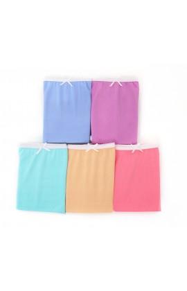 闕蘭絹粉嫩舒適透氣100%蠶絲內褲五件組-88903