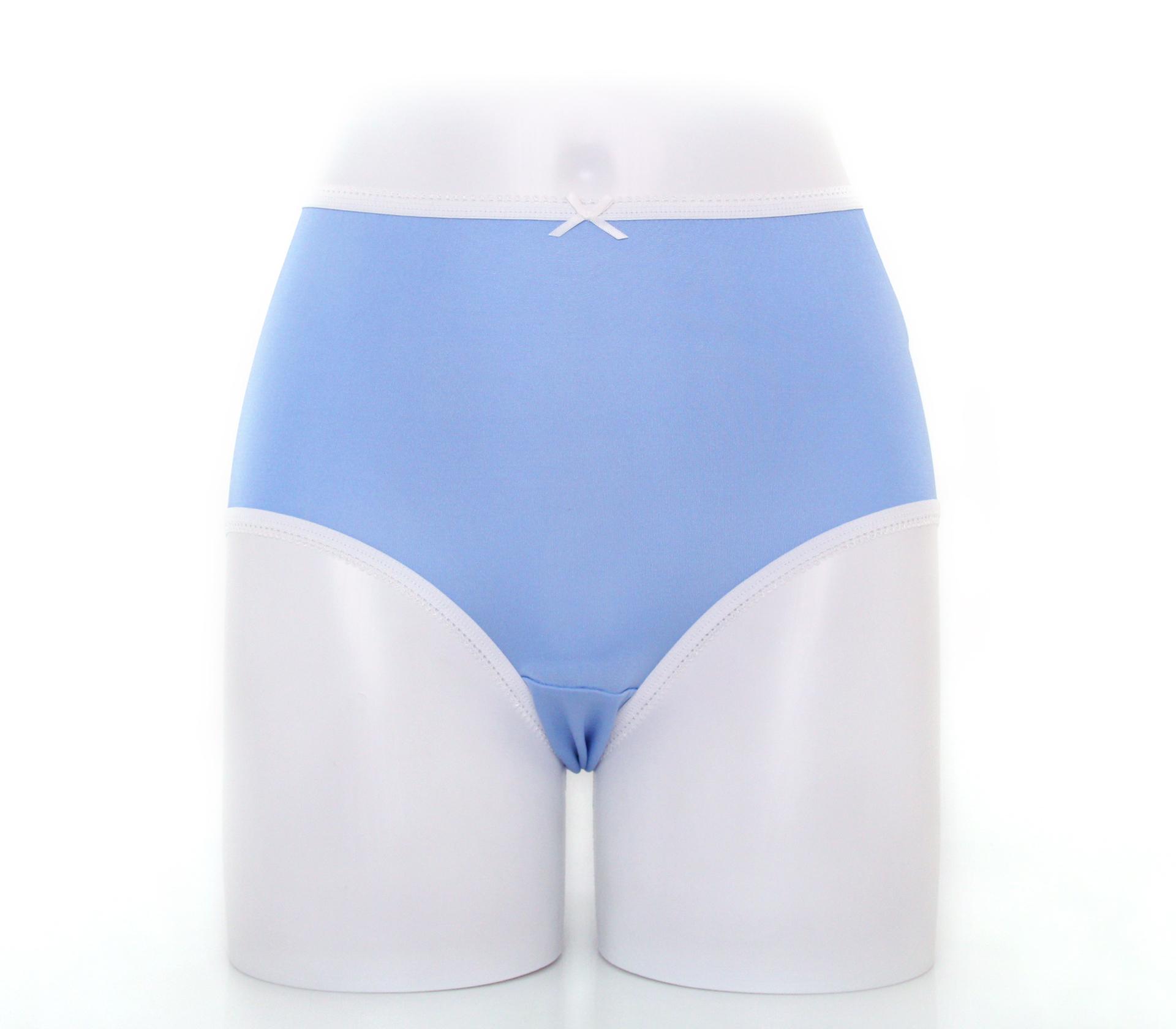 闕蘭絹粉嫩舒適透氣100%蠶絲內褲-88903(藍)