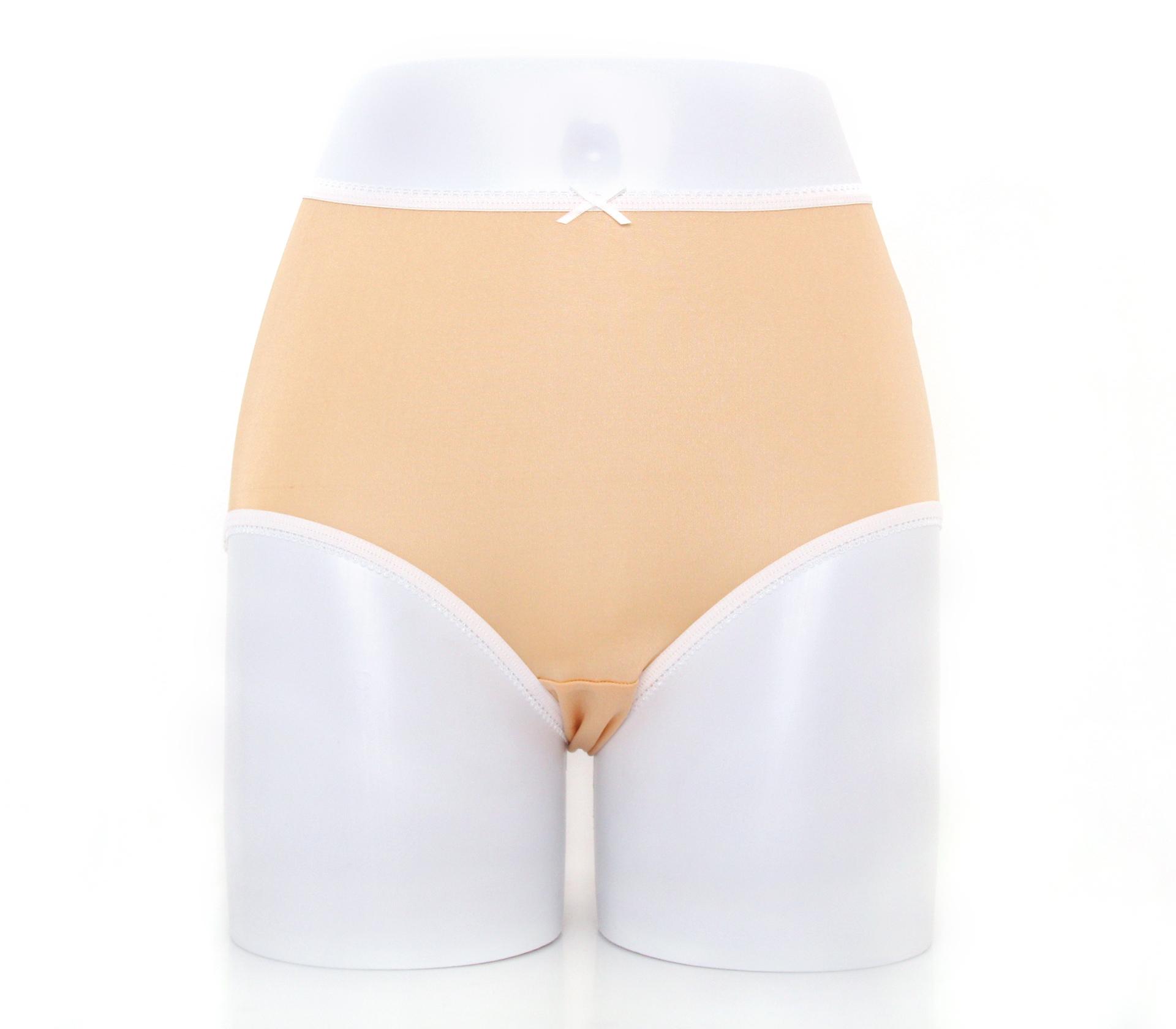 闕蘭絹粉嫩舒適透氣100%蠶絲內褲-88903(膚)