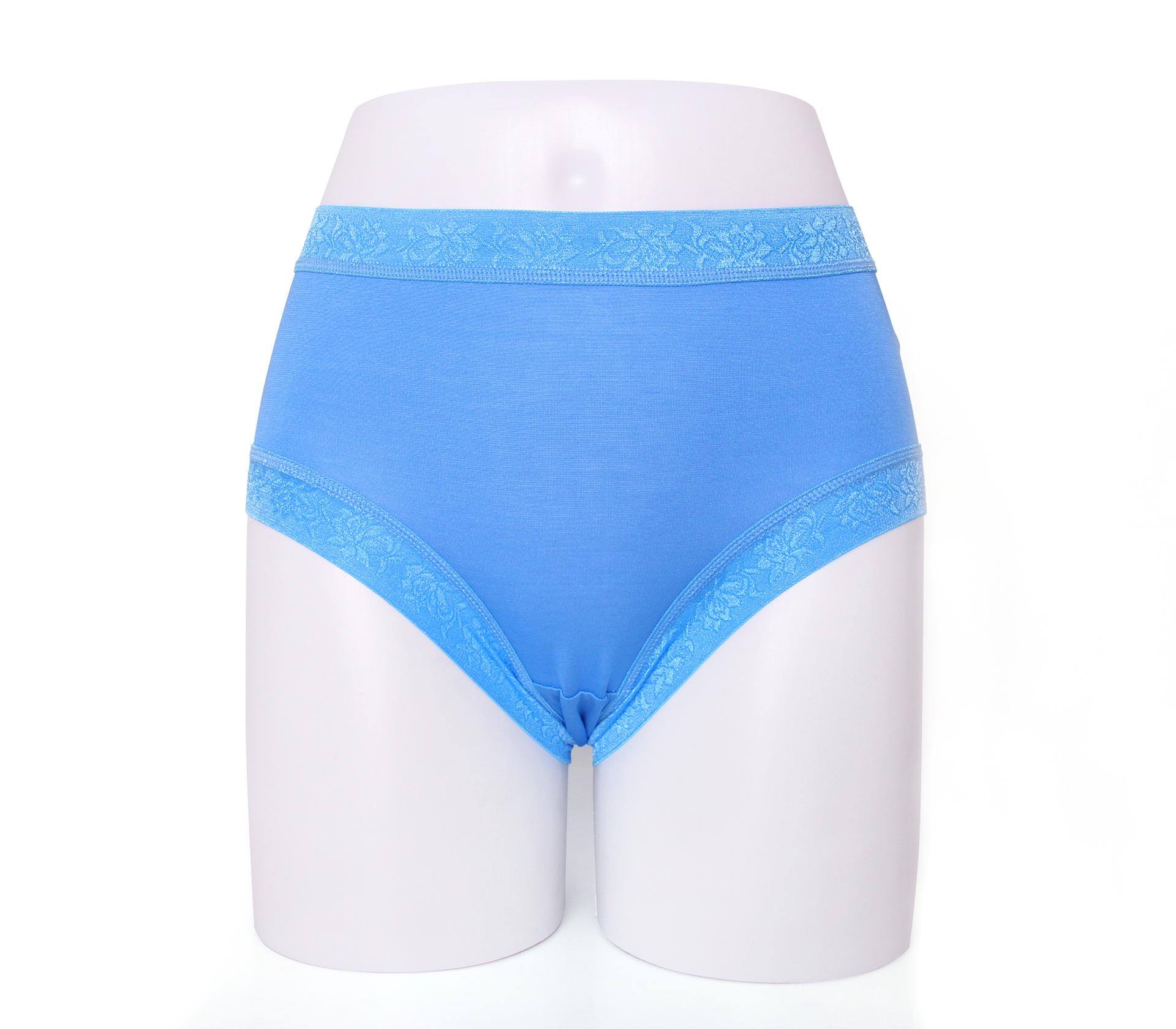 闕蘭絹舒涼無痕100%蠶絲內褲-88904(藍)