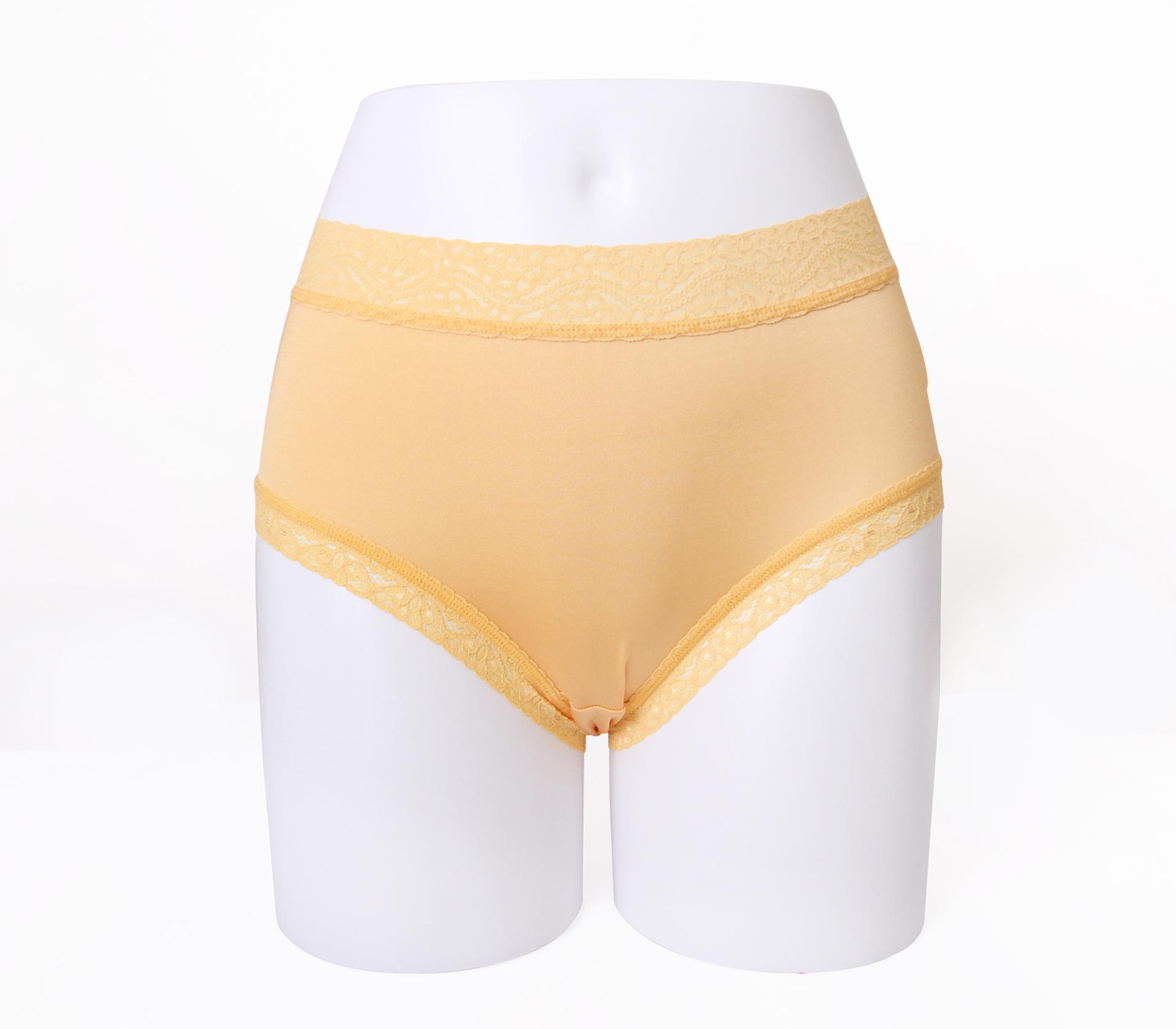 闕蘭絹舒適親膚100%蠶絲內褲-88905(黃)