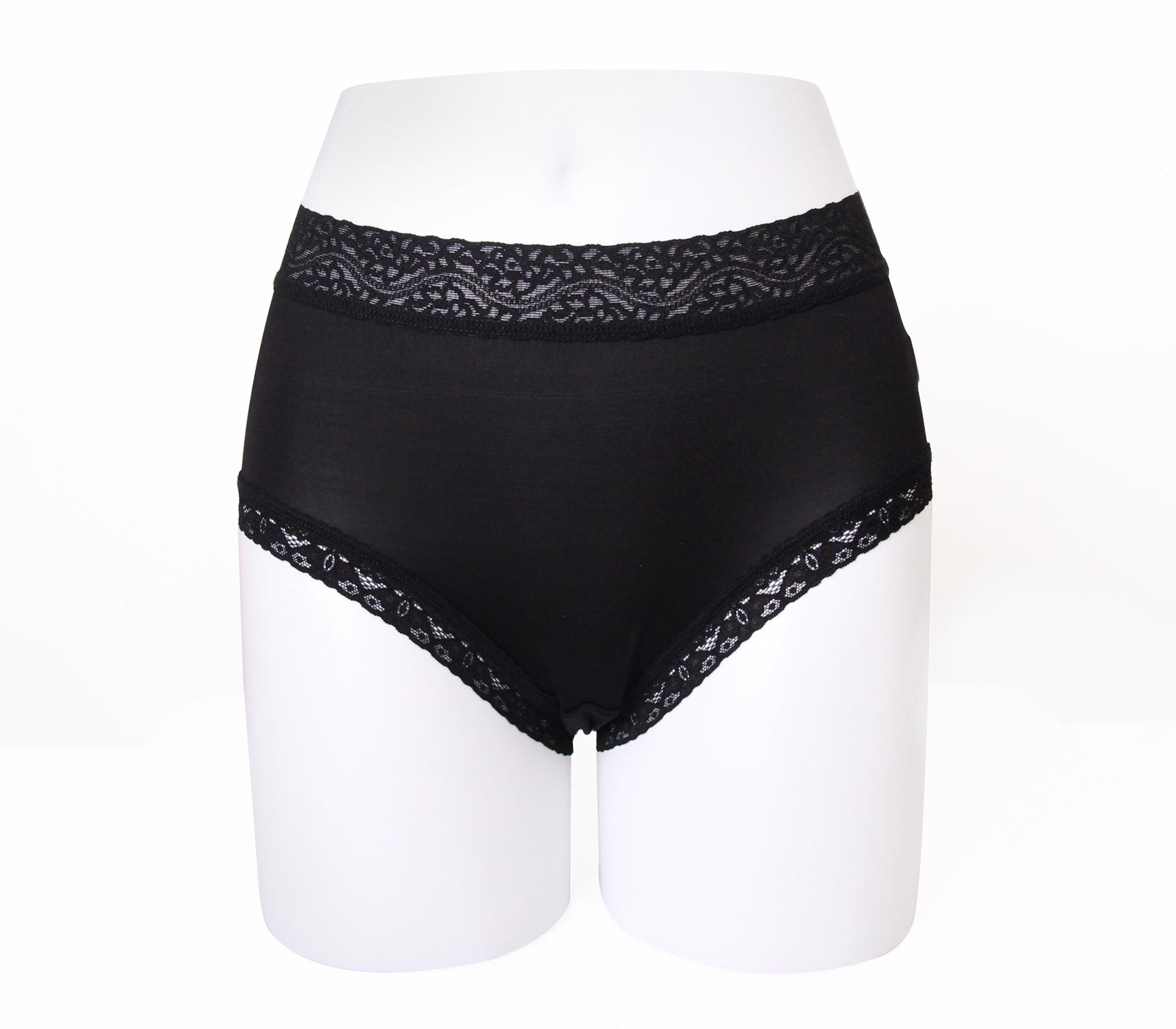 闕蘭絹舒適親膚100%蠶絲內褲-88905(黑)