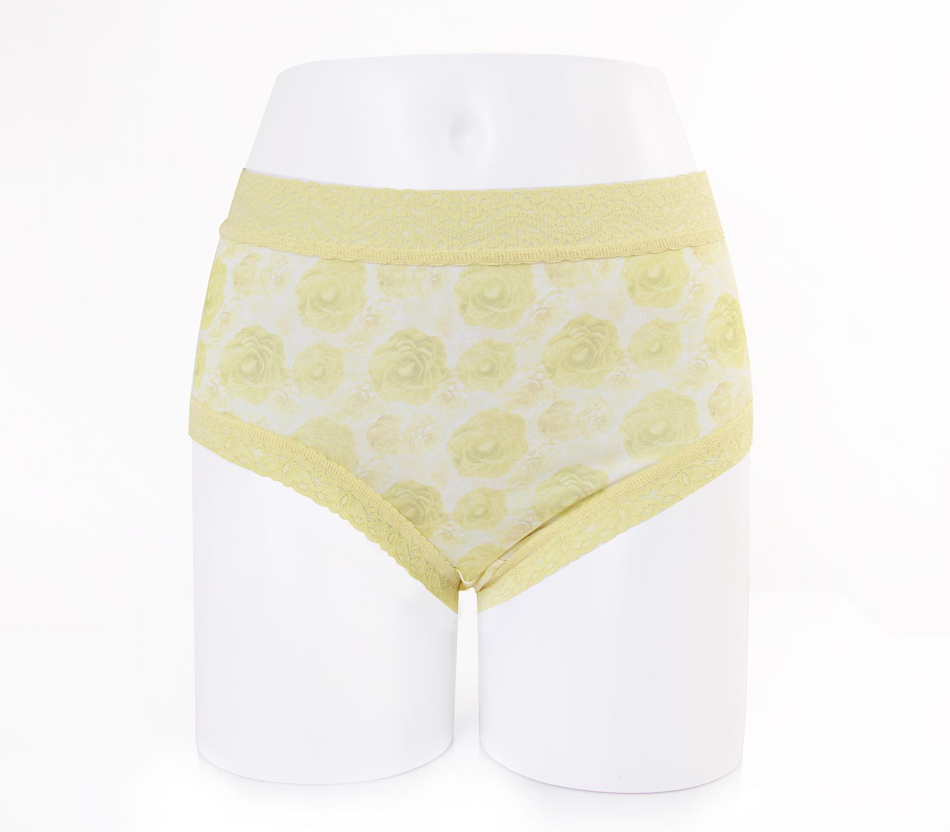 闕蘭絹浪漫牡丹100%蠶絲內褲 - 88908 (綠)