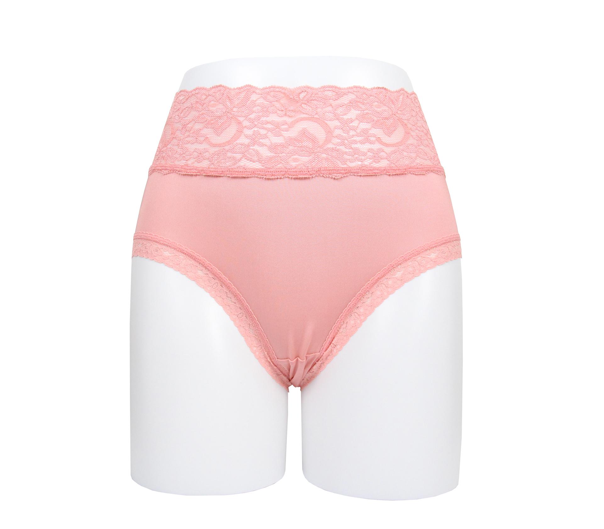 闕蘭絹花朵蕾絲100%蠶絲內褲 - 88909 (粉)