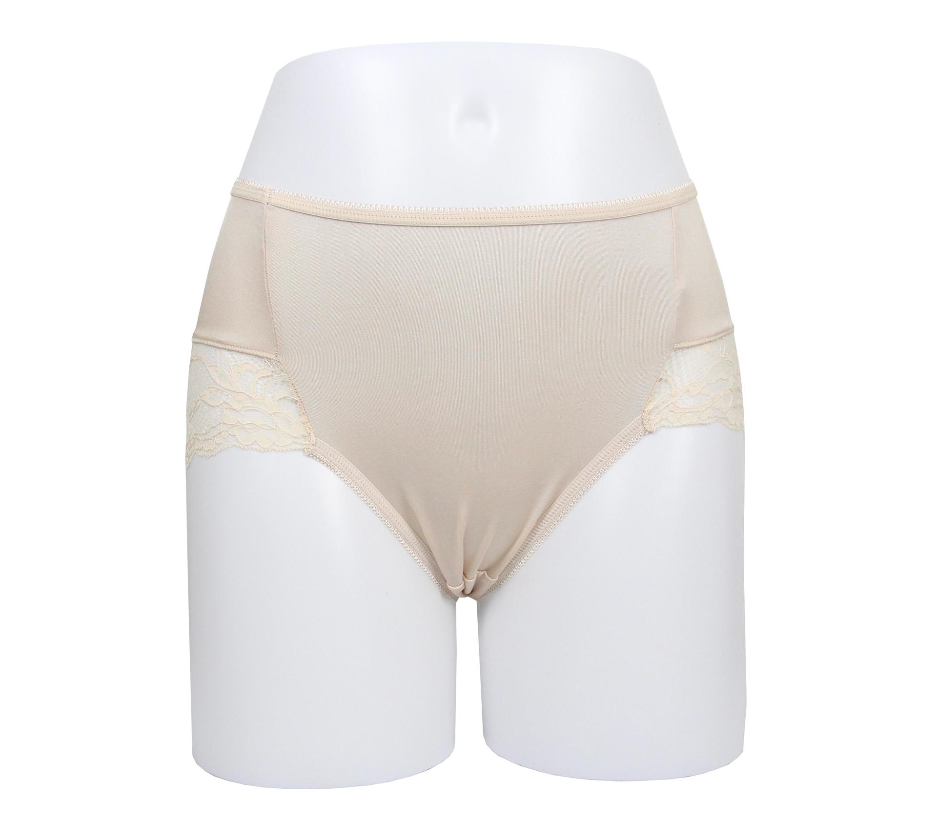 闕蘭絹典雅蕾絲100%蠶絲內褲 - 88910 (黃)