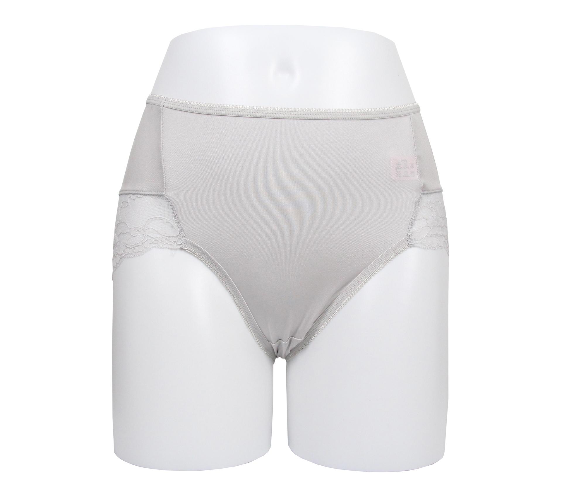 闕蘭絹典雅蕾絲100%蠶絲內褲 - 88910 (灰)